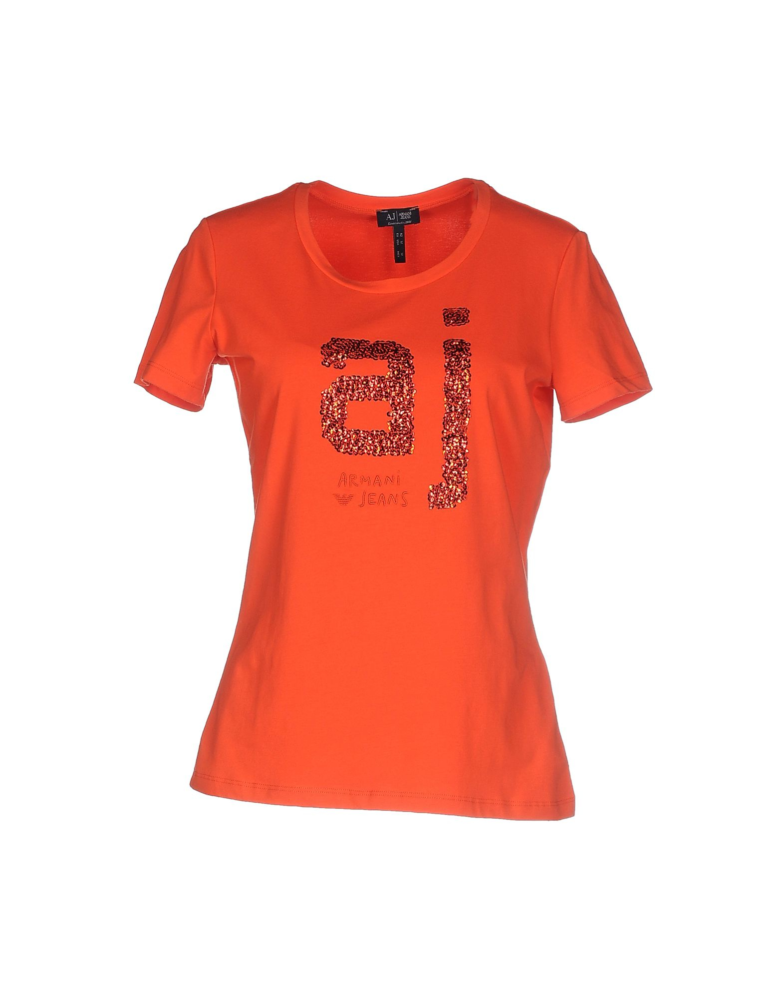 armani jeans t shirt in red lyst. Black Bedroom Furniture Sets. Home Design Ideas