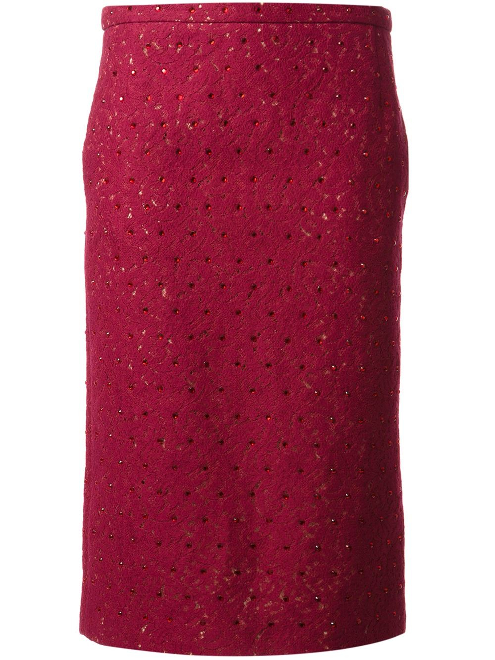 n 176 21 embellished lace pencil skirt in pink lyst