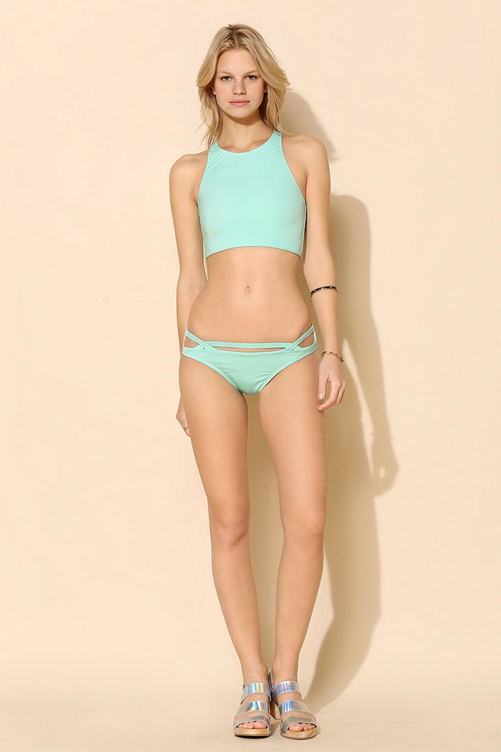 0b9502211570 Urban Outfitters Out From Under Mix Match Racerback Bikini Top in Green -  Lyst