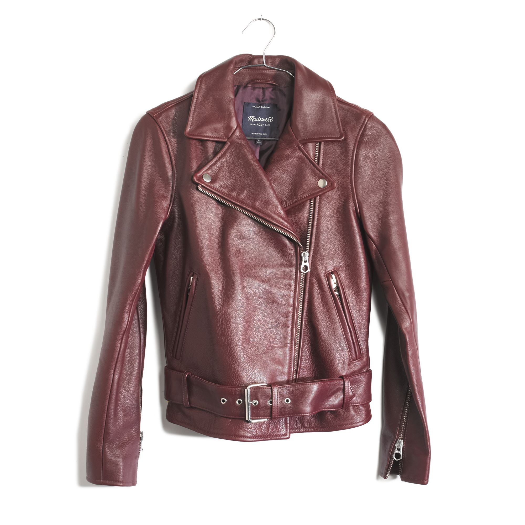Madewell Ultimate Leather Motorcycle Jacket in Red