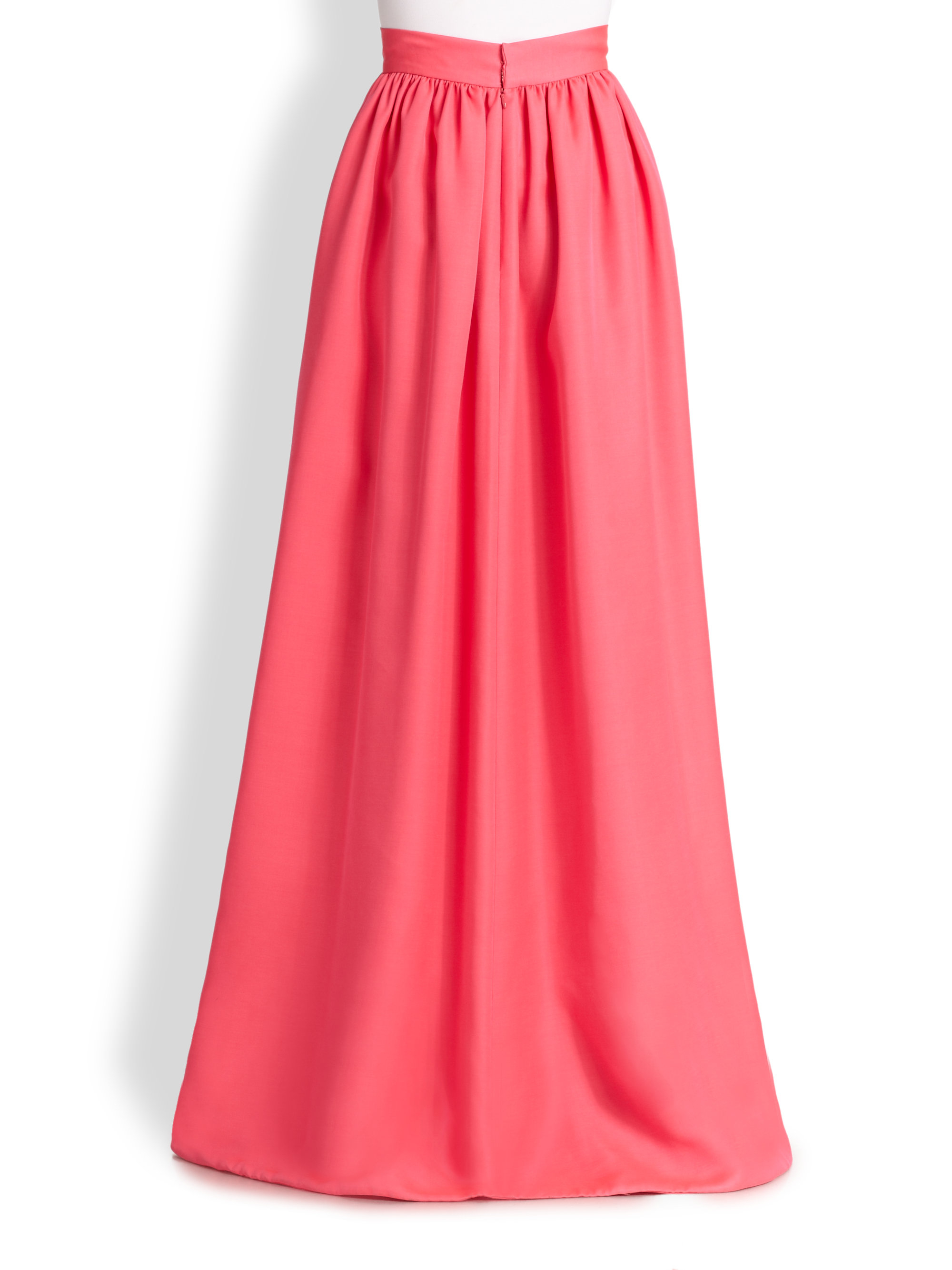 honor maxi skirt in pink neon pink
