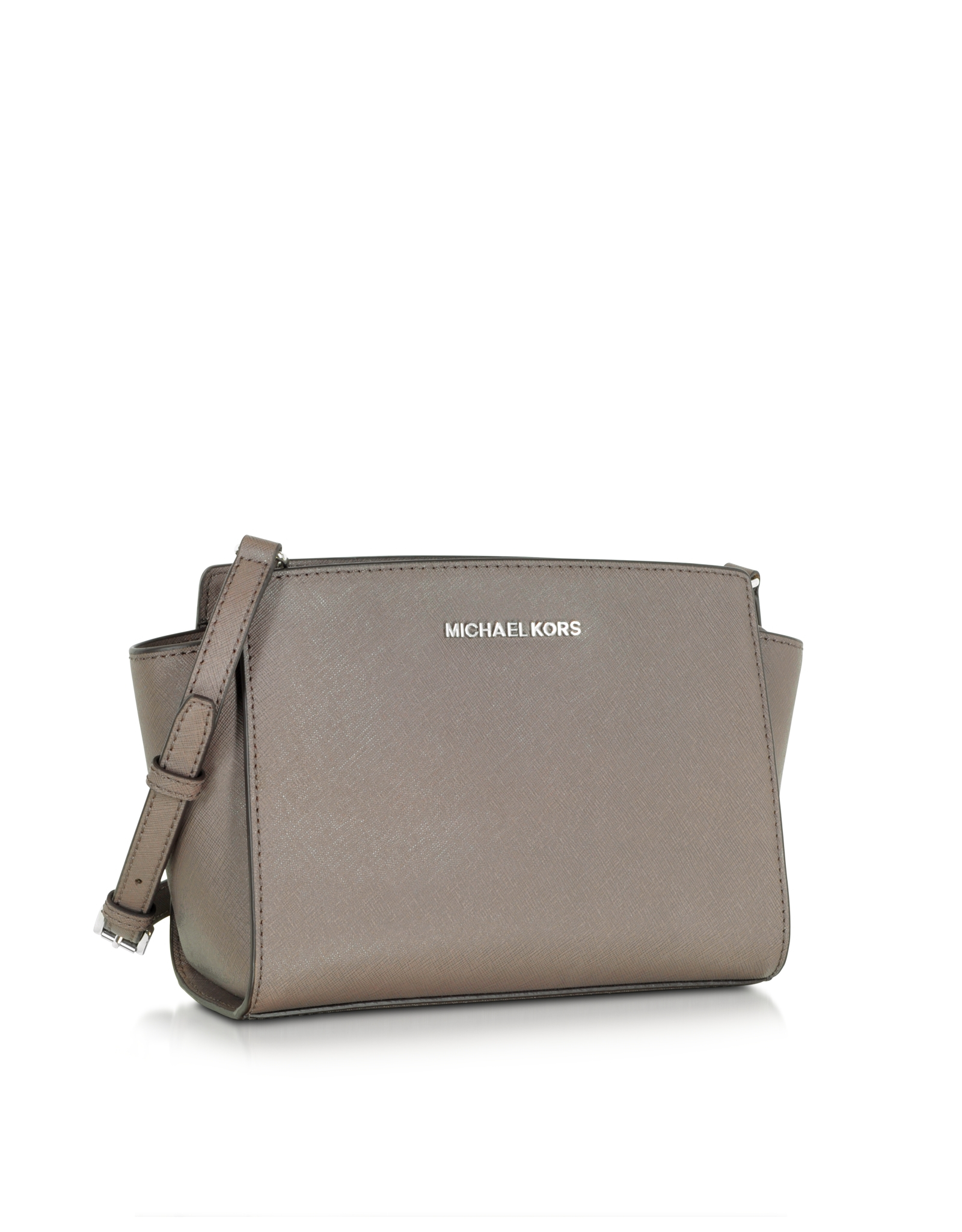 42cfabec0f7f64 Michael Kors Selma Saffiano-Leather Cross-Body Bag in Metallic - Lyst