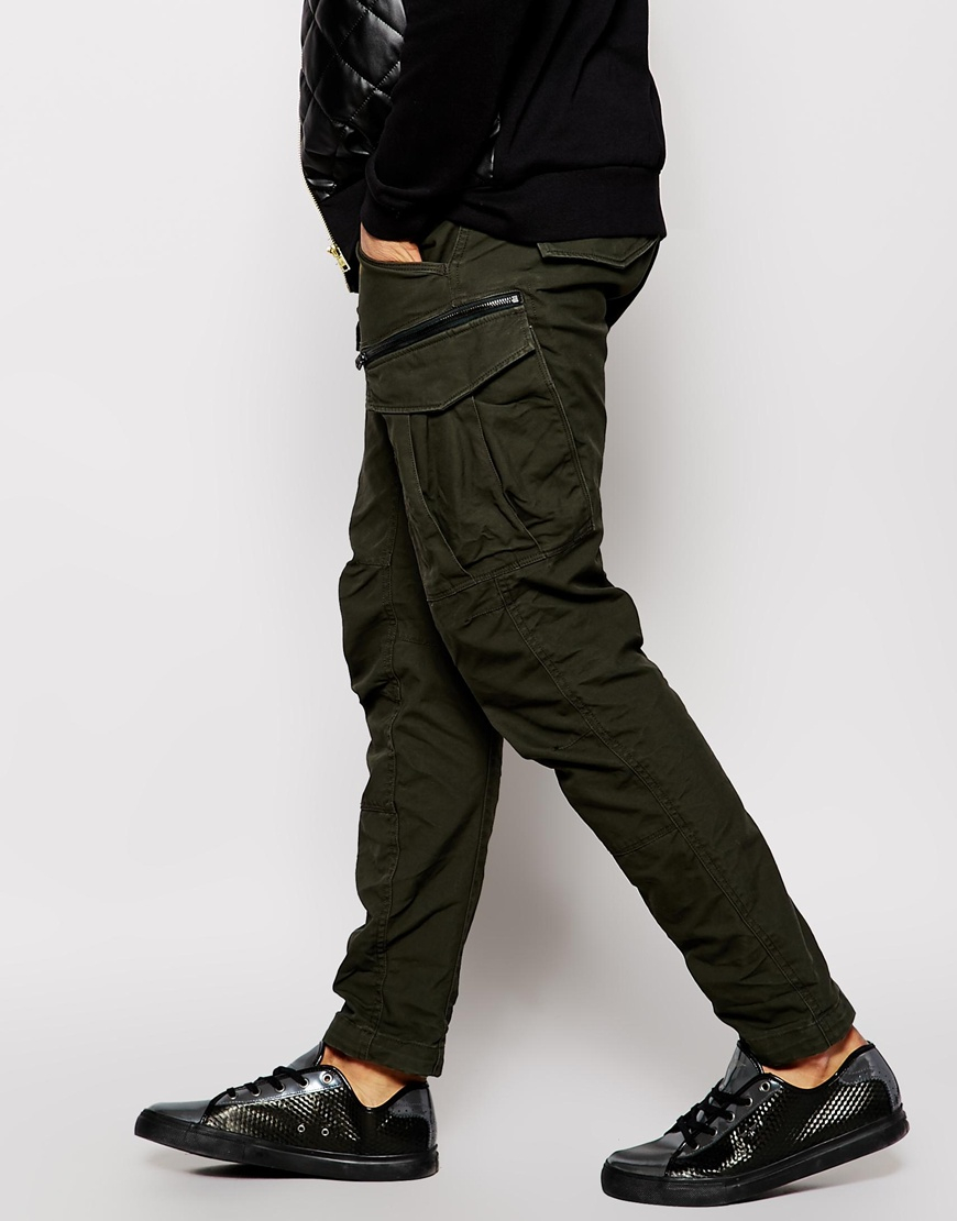 f8657e53678fb Lyst - G-Star Raw Cargo Trousers Rovic Zip 3d Tapered Fit in Green ...