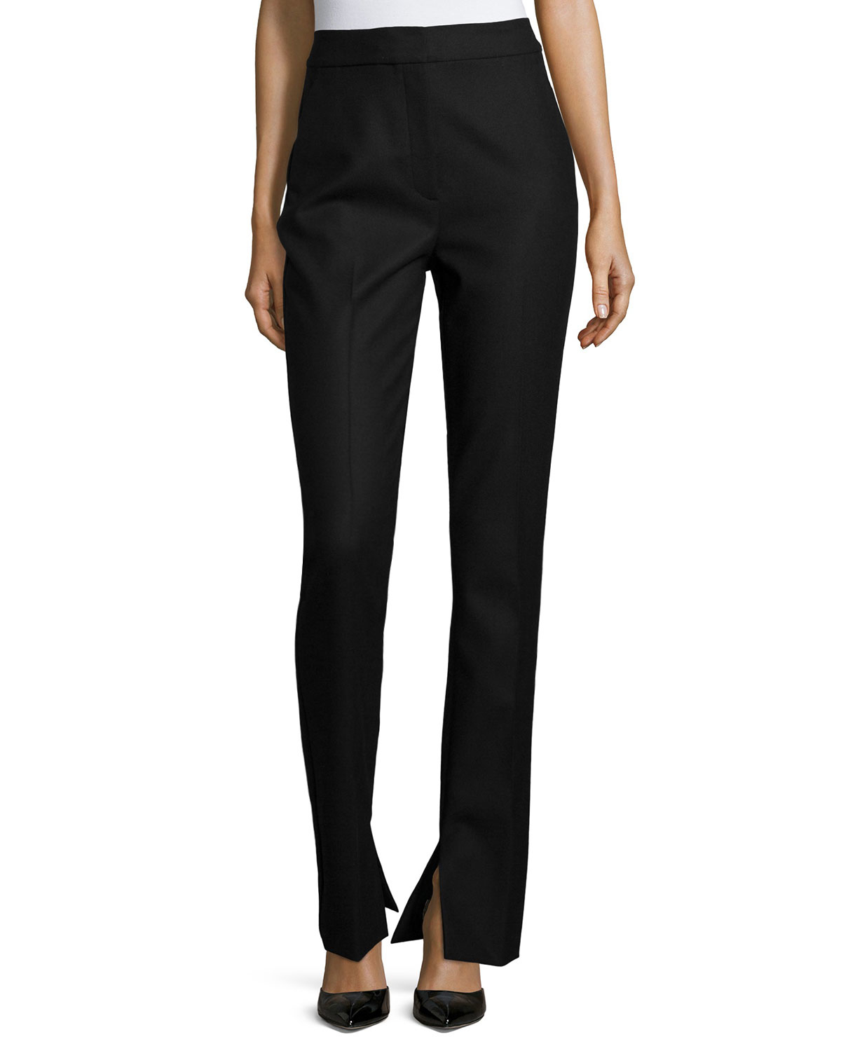 Theory Talluva Faded Straight-leg Pants in Black | Lyst