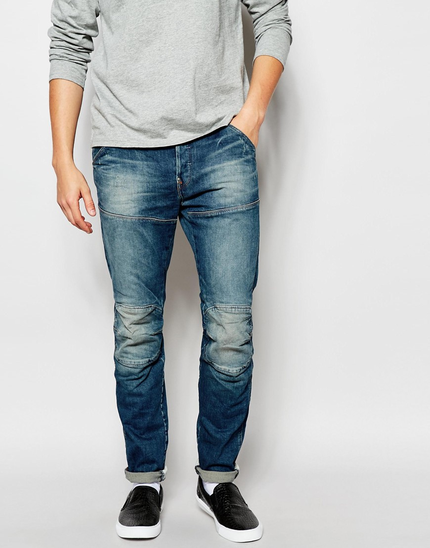 7ca2fdfb317 G-Star RAW Jeans 5620 Elwood 3d Slim Fit Wils Stretch Dark Aged in ...