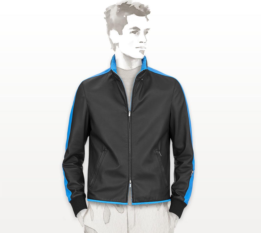 herm s toilovent reversible jacket in blue for men marine bleu sport lyst. Black Bedroom Furniture Sets. Home Design Ideas