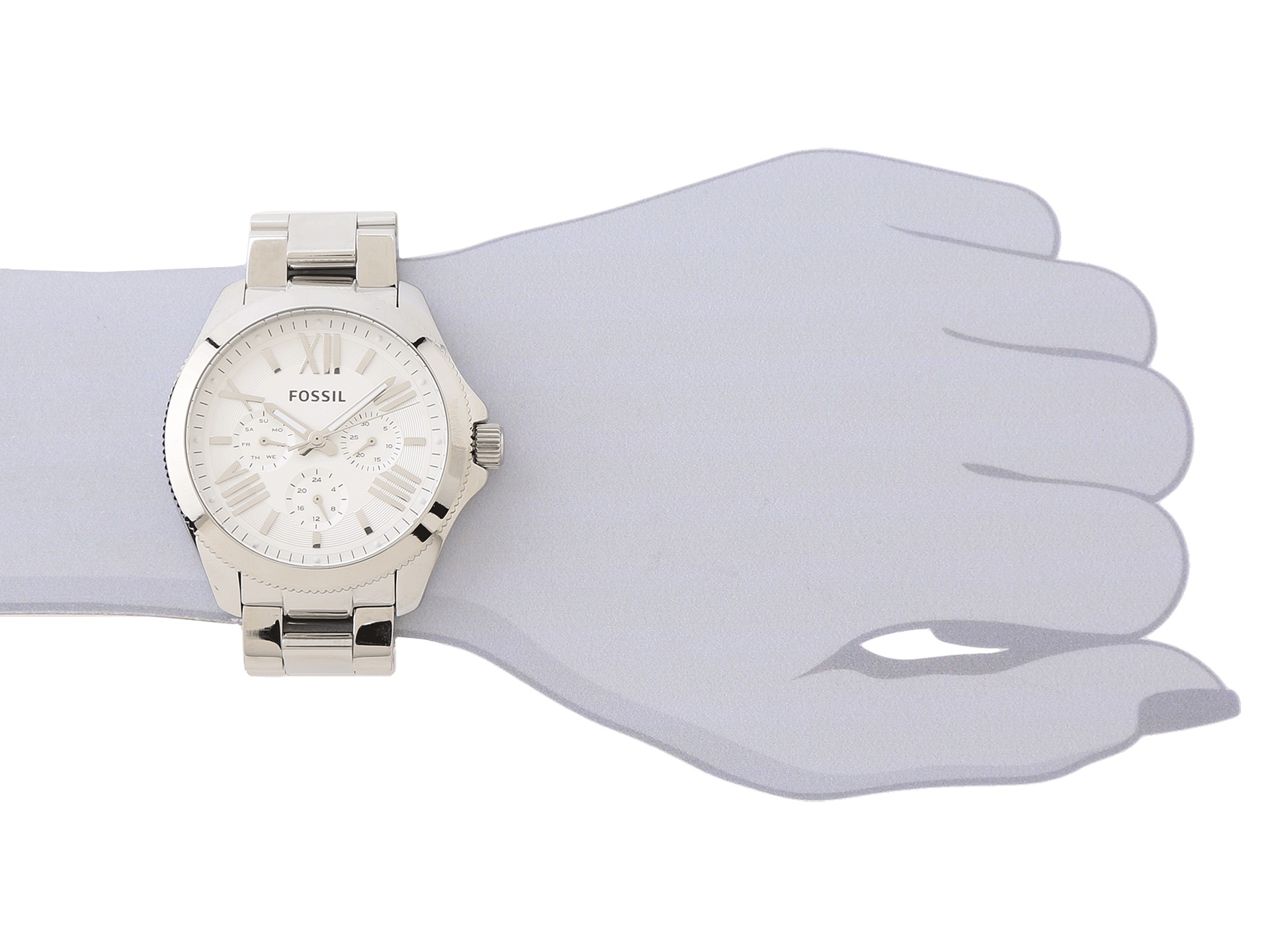 Fossil Cecile Multifunction Silver Tone Stainless Steel AM4509 Womens Watch Source Ladies. Source · Gallery