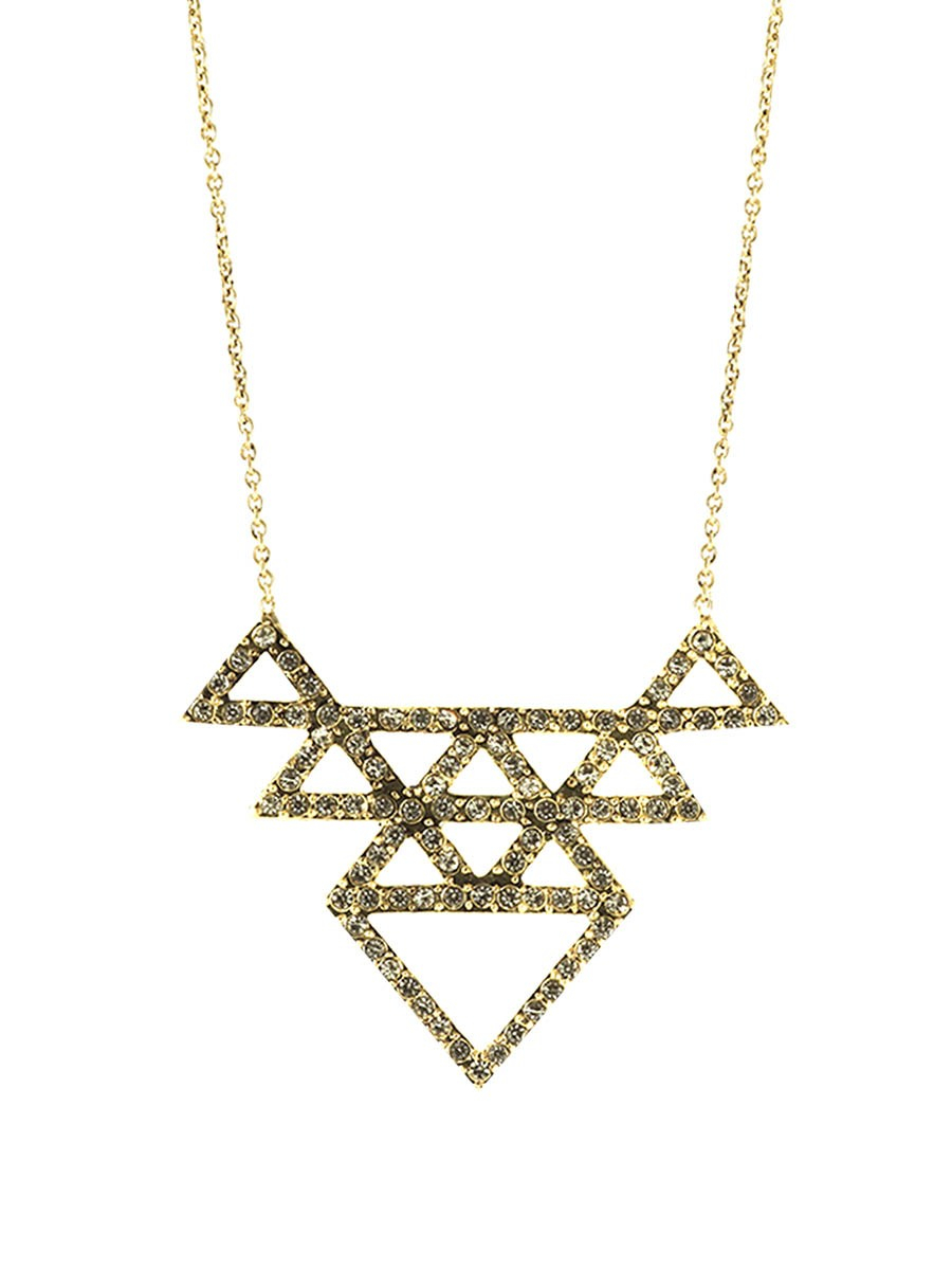 house of harlow 1960 tessellation necklace in gold gold