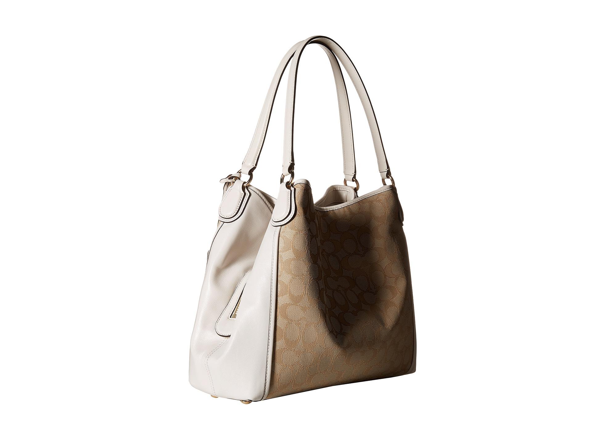 a401b992e6 Lyst - COACH Signature Edie 31 Shoulder Bag