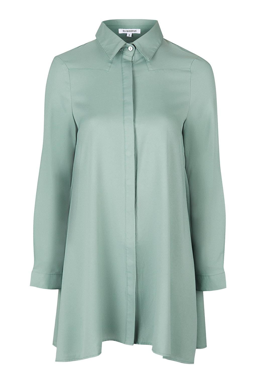 9692791c2ddd TOPSHOP Swing Shirtdress By Glamorous in Green - Lyst