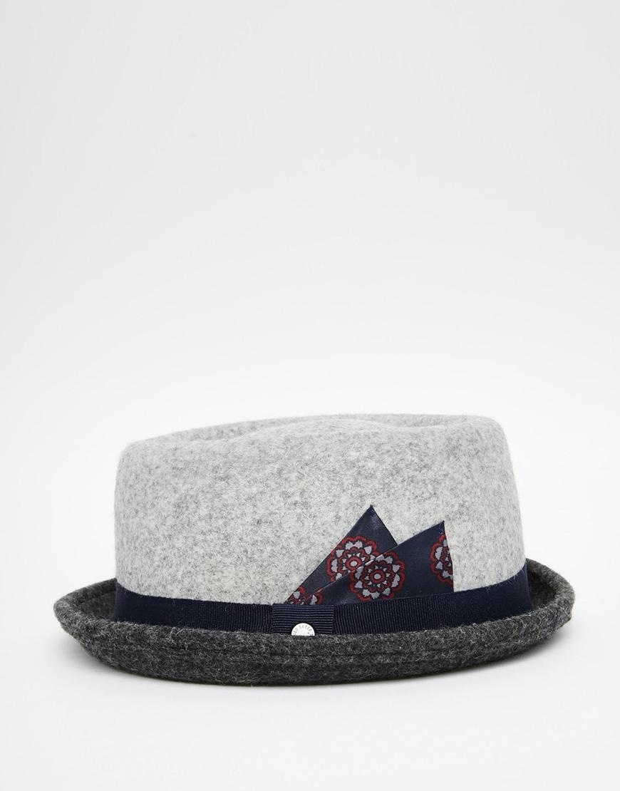cd3b0e6b755 Lyst - Ted Baker Wool Trilby in Gray for Men