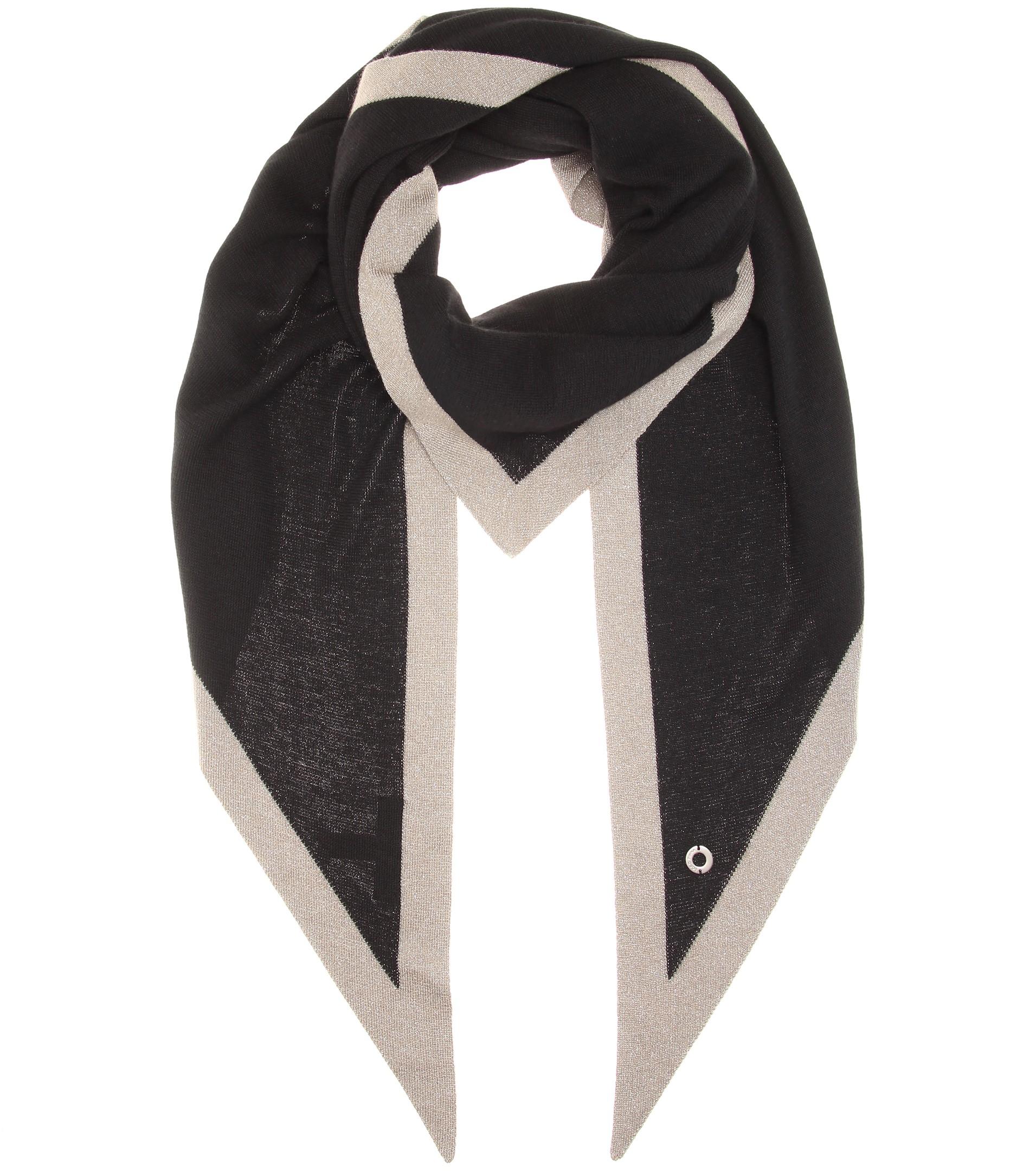 f5623c4bb Loro Piana Twice Cashmere And Silk Scarf in Gray - Lyst