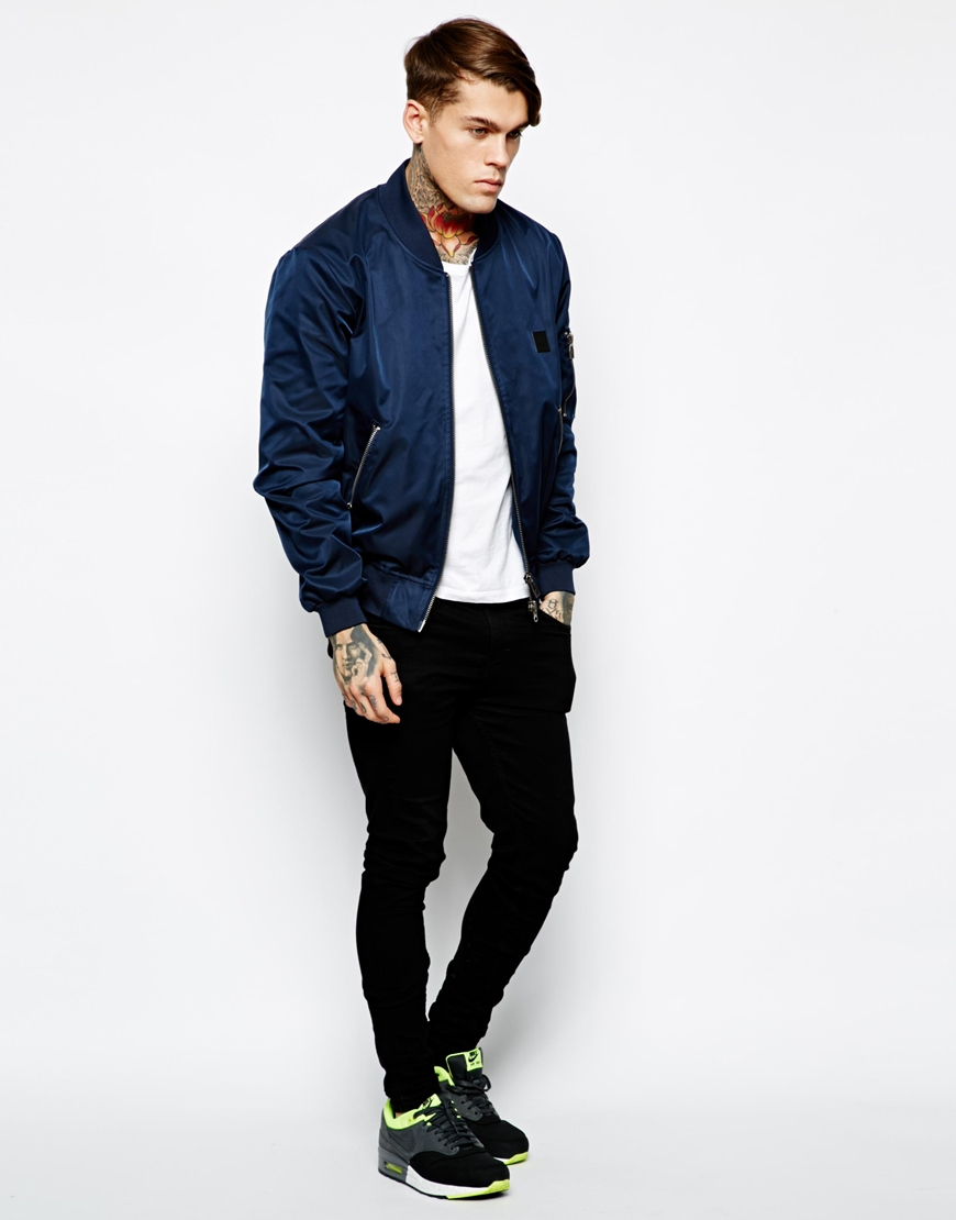 Collection Mens Blue Bomber Jacket Pictures - The Fashions Of Paradise
