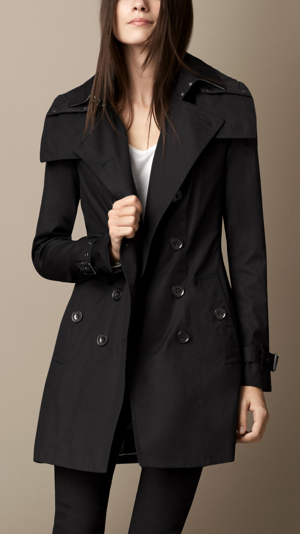 black trench coat with hood - photo #18