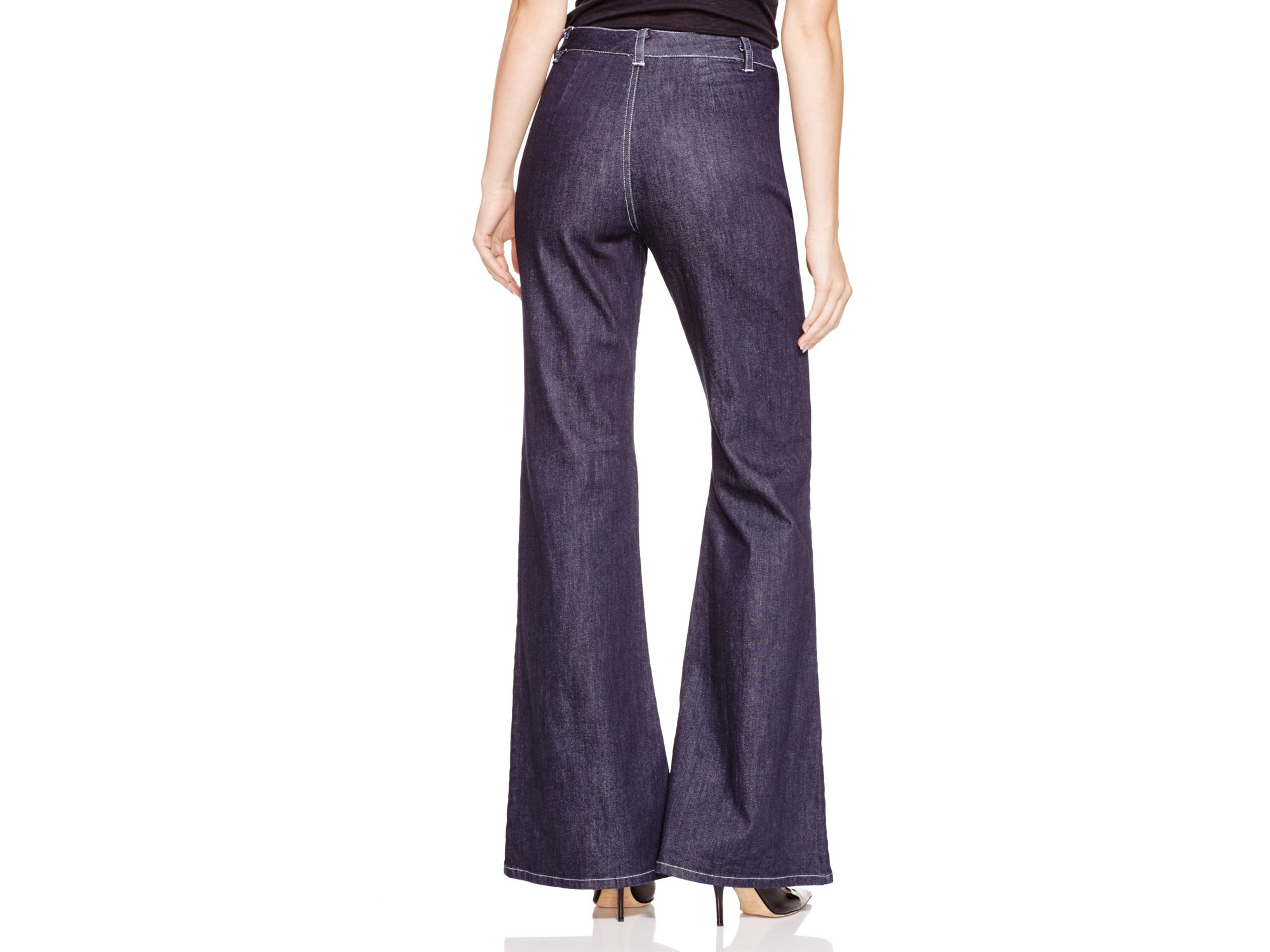 Cynthia Rowley Denim Flared Jeans in Indigo (Blue)