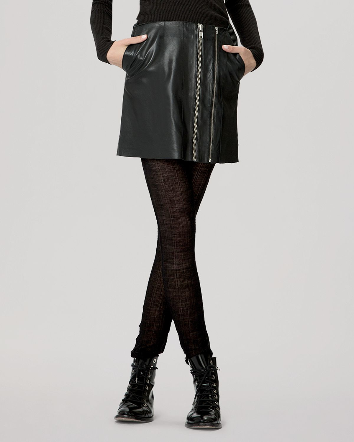 d3eeef8b4 Gallery. Previously sold at: Bloomingdale's · Women's Black Leather Skirts  ...