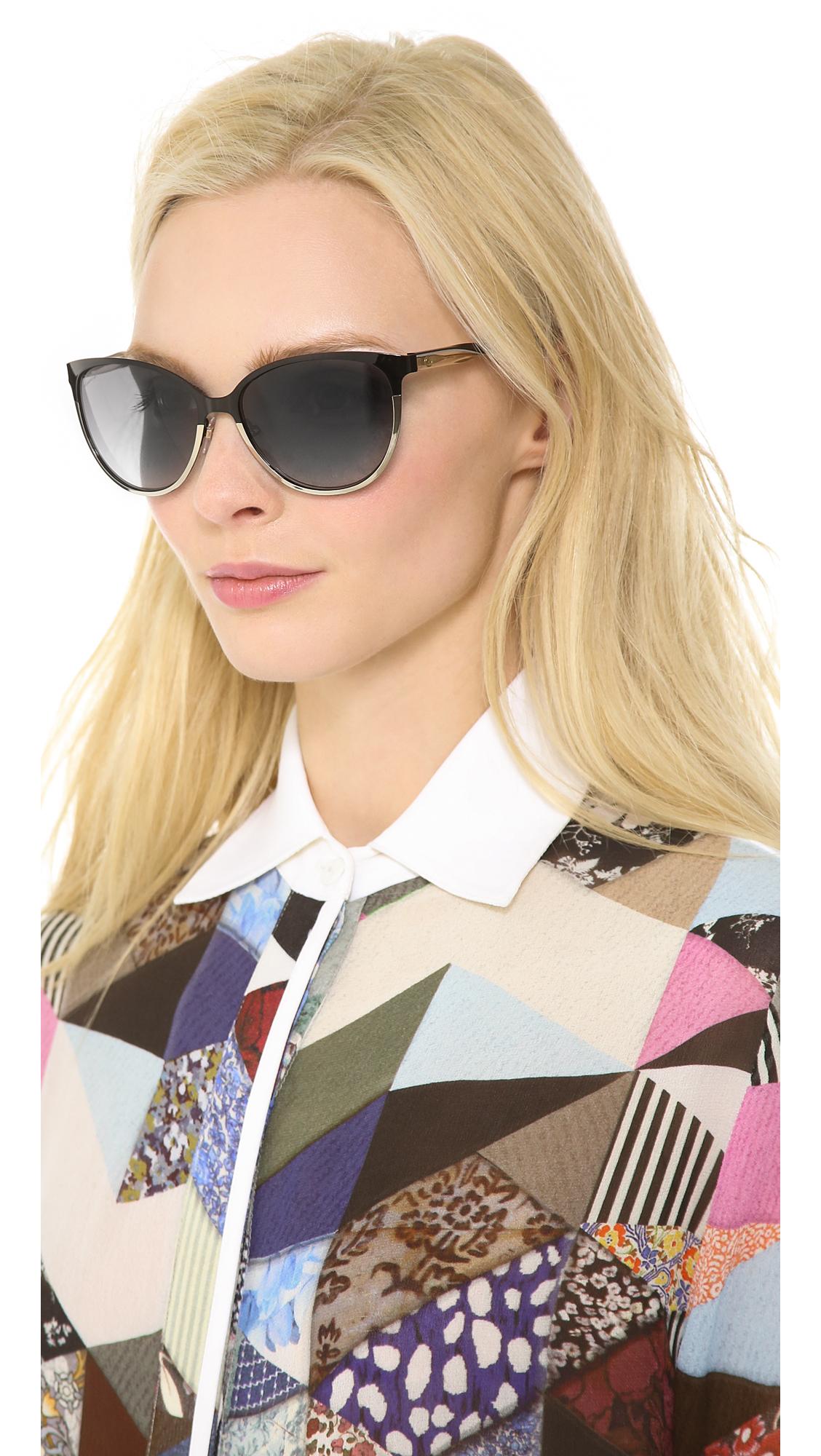 f9bab746cf9 Gucci Women s Cat Eye Metal Frame Sunglasses
