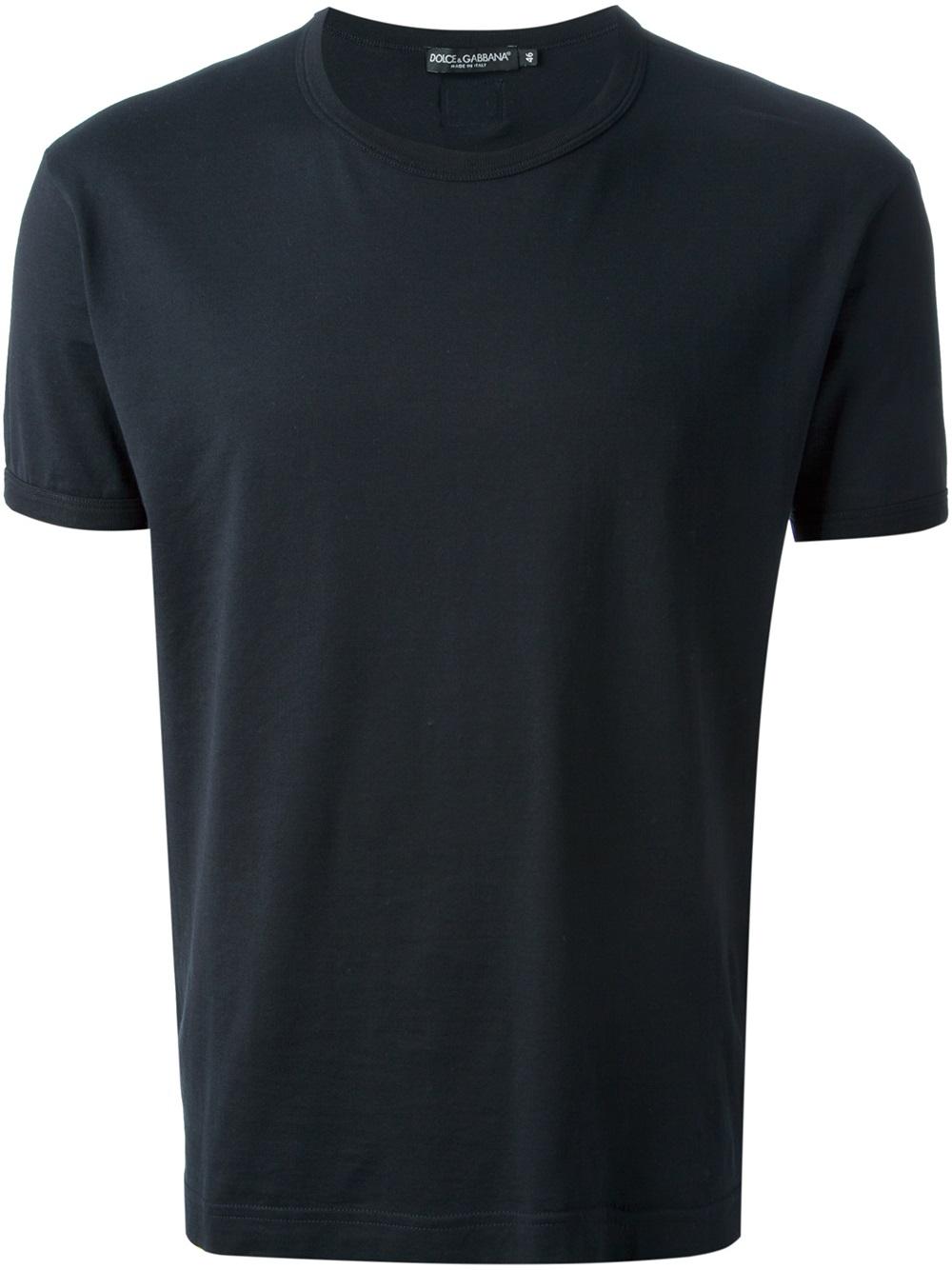 lyst dolce gabbana basic tshirt in blue for men. Black Bedroom Furniture Sets. Home Design Ideas