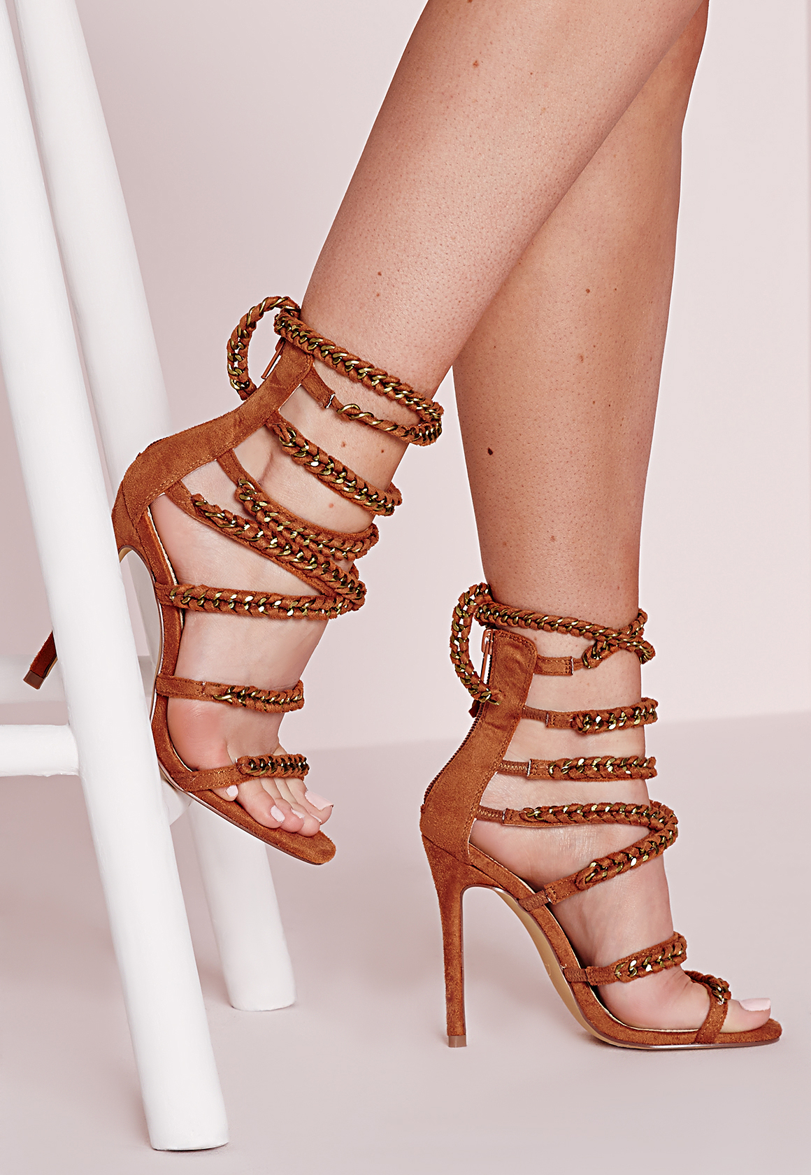 Chain Heeled Sandals River Island