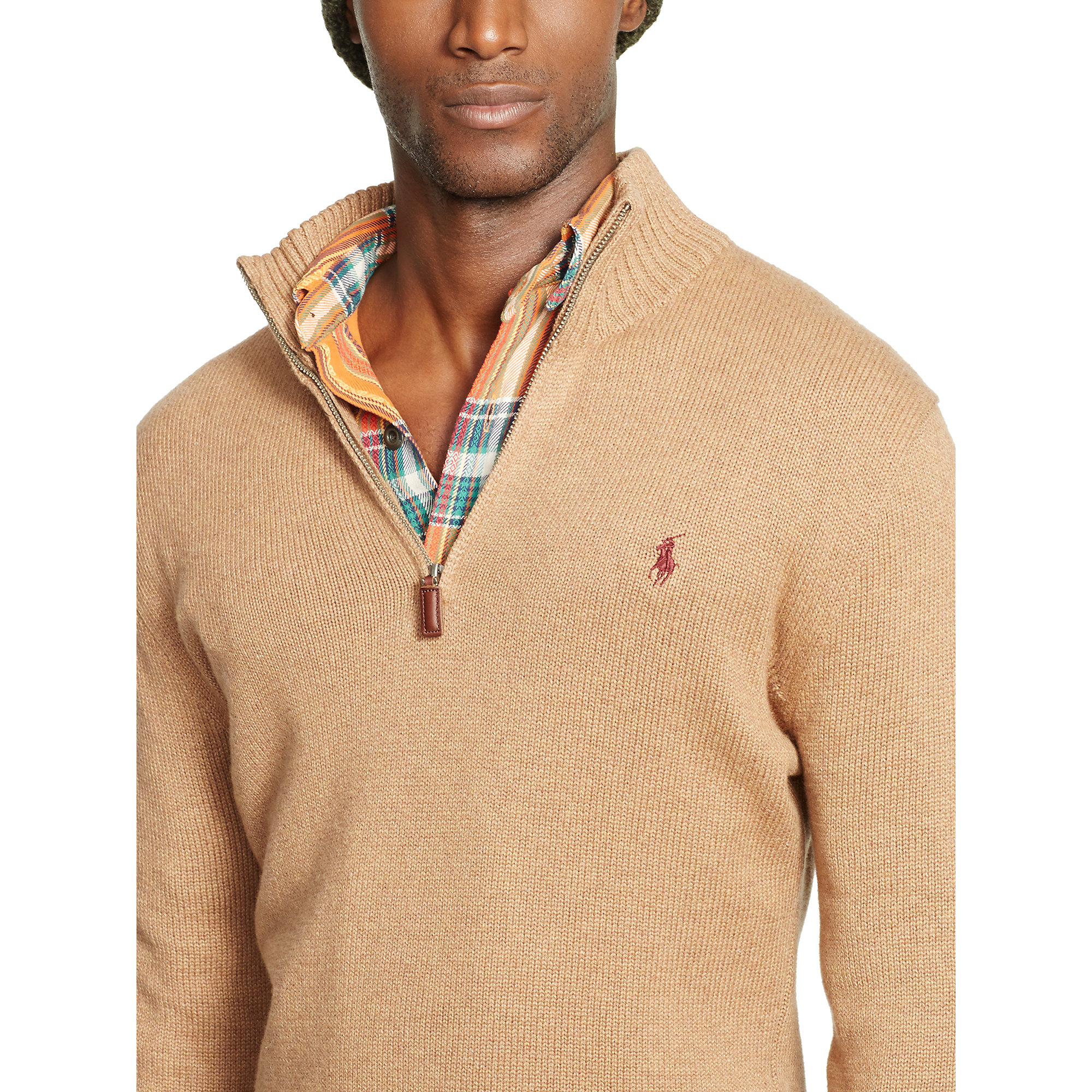Polo ralph lauren Cotton Half-Zip Sweater in Animal for Men (Nubuck Heather)