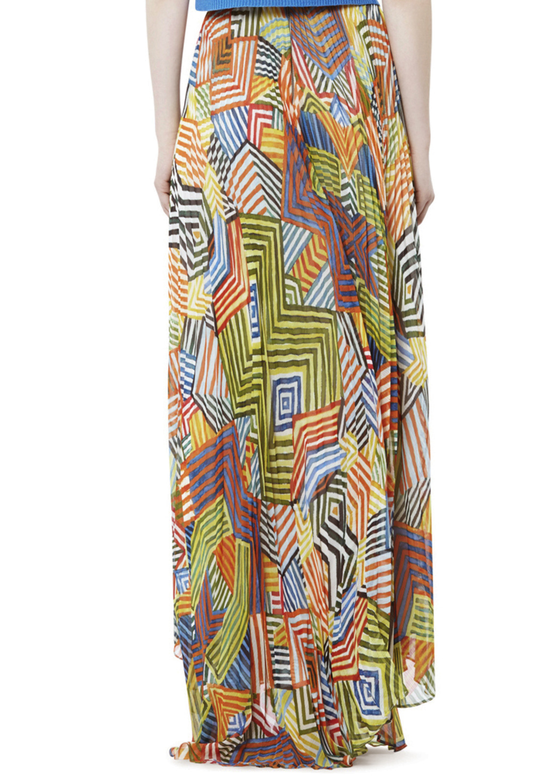 0ad6135fd8 Alice + Olivia Shannon Pleated Maxi Skirt - Lyst