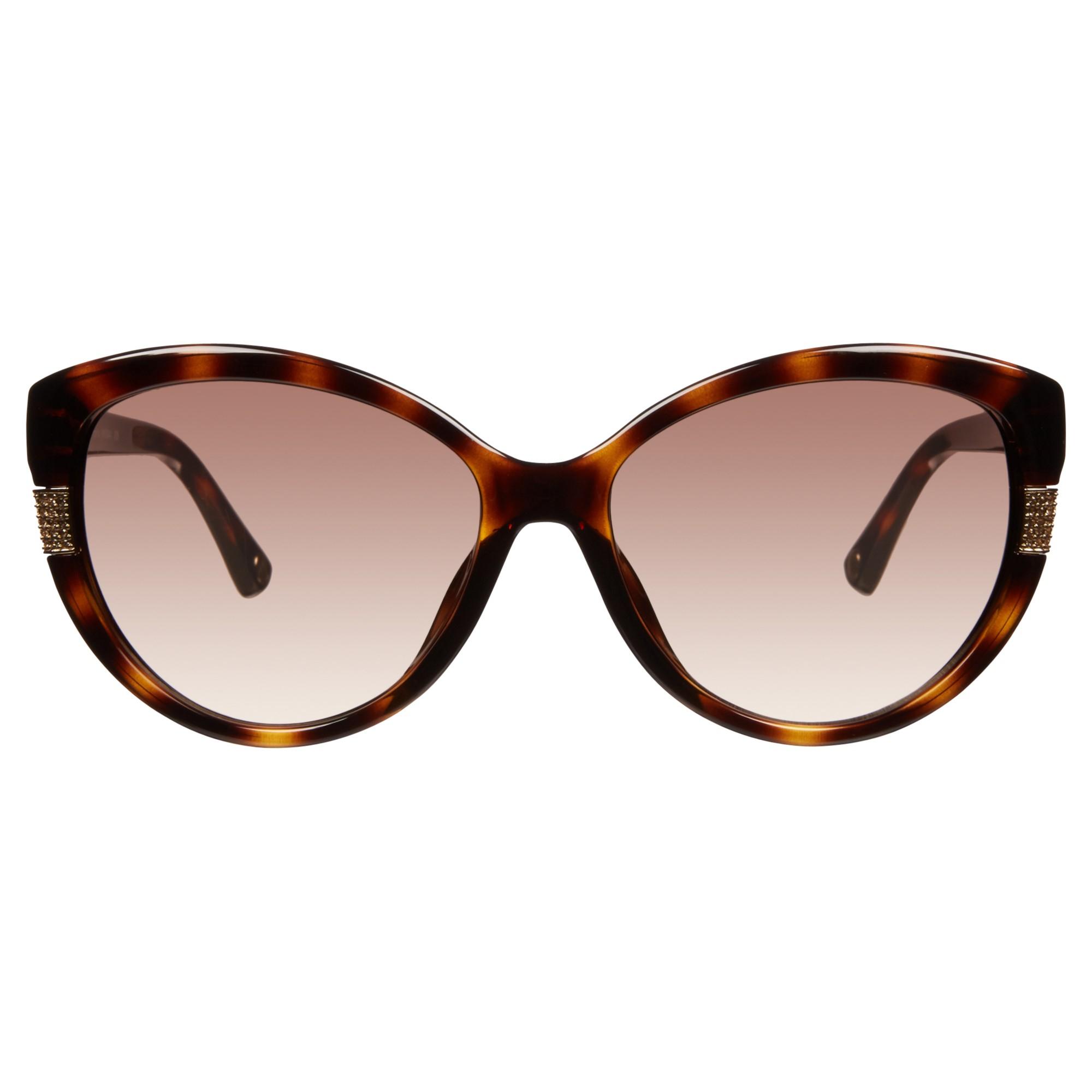 Michael Kors Mks844 Angelica Cat Eye Sunglasses in Tortoise (Metallic)