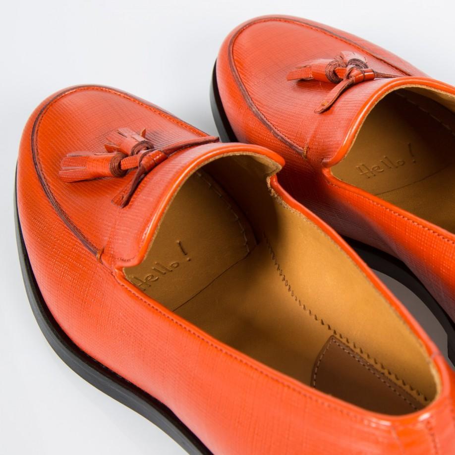93951e2f004 Lyst - Paul Smith Stevenson Saffiano-Leather Loafers in Orange