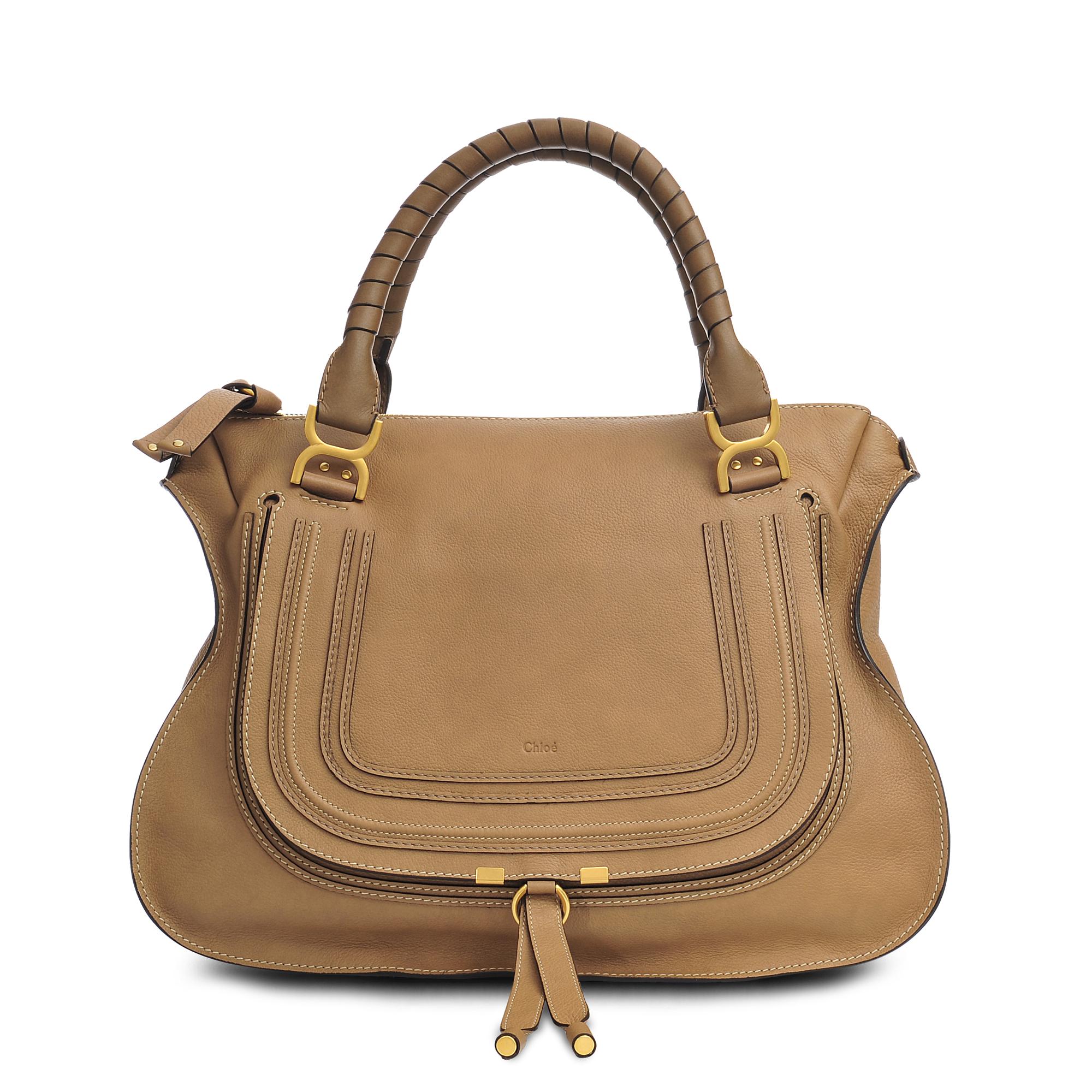 chlo large marcie bag in brown lyst. Black Bedroom Furniture Sets. Home Design Ideas
