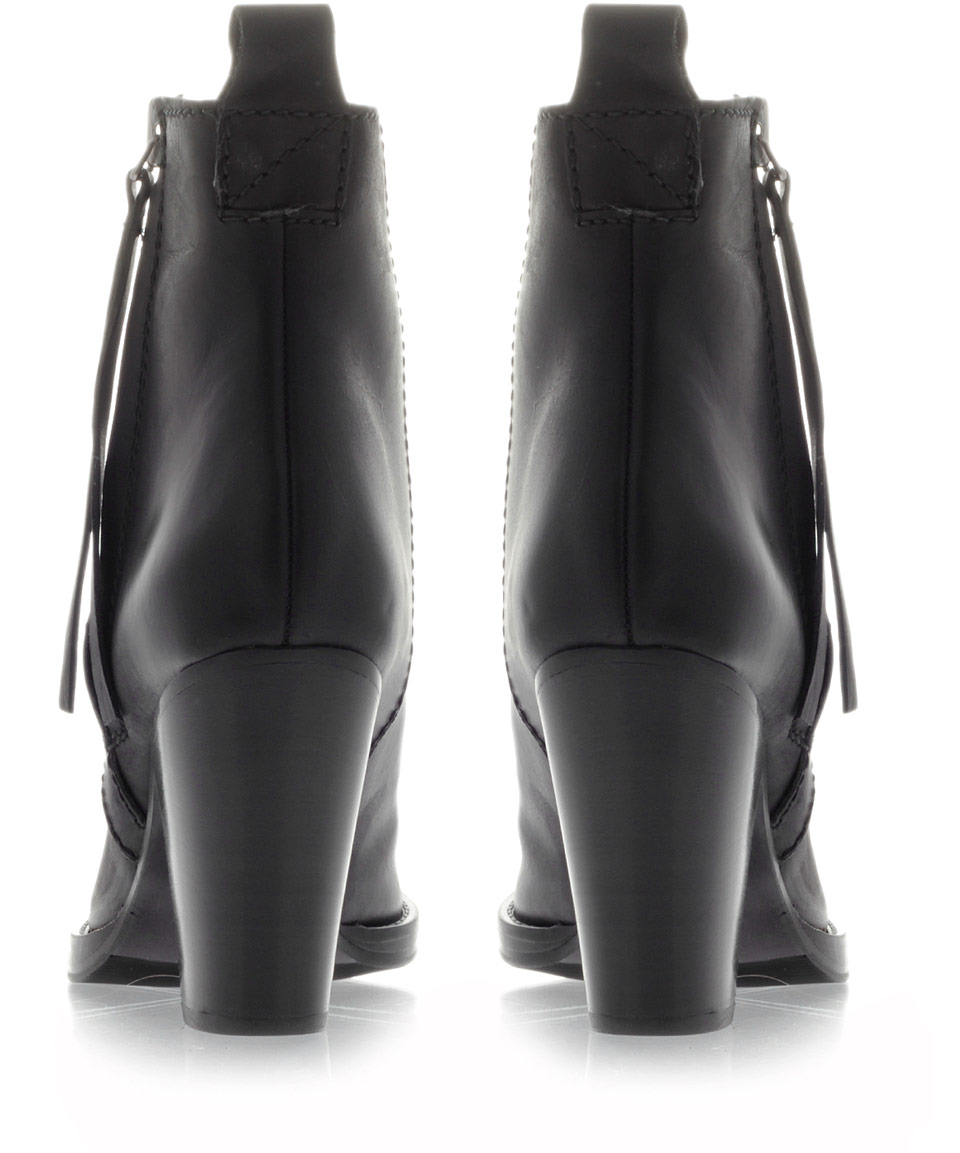 Acne Studios Black Colt High Heel Ankle Boots