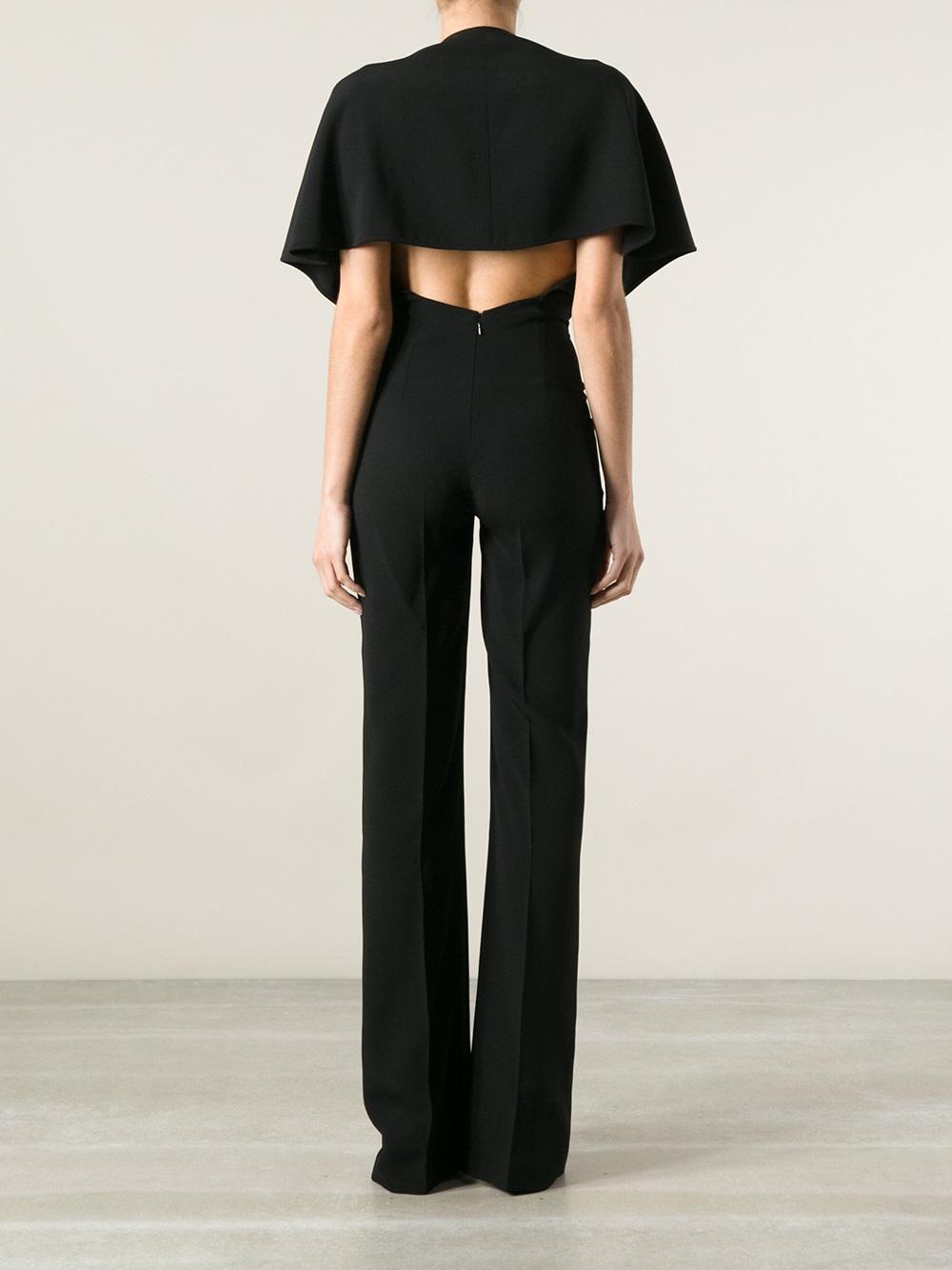 Stella mccartney Flared Trouser Jumpsuit in Black   Lyst