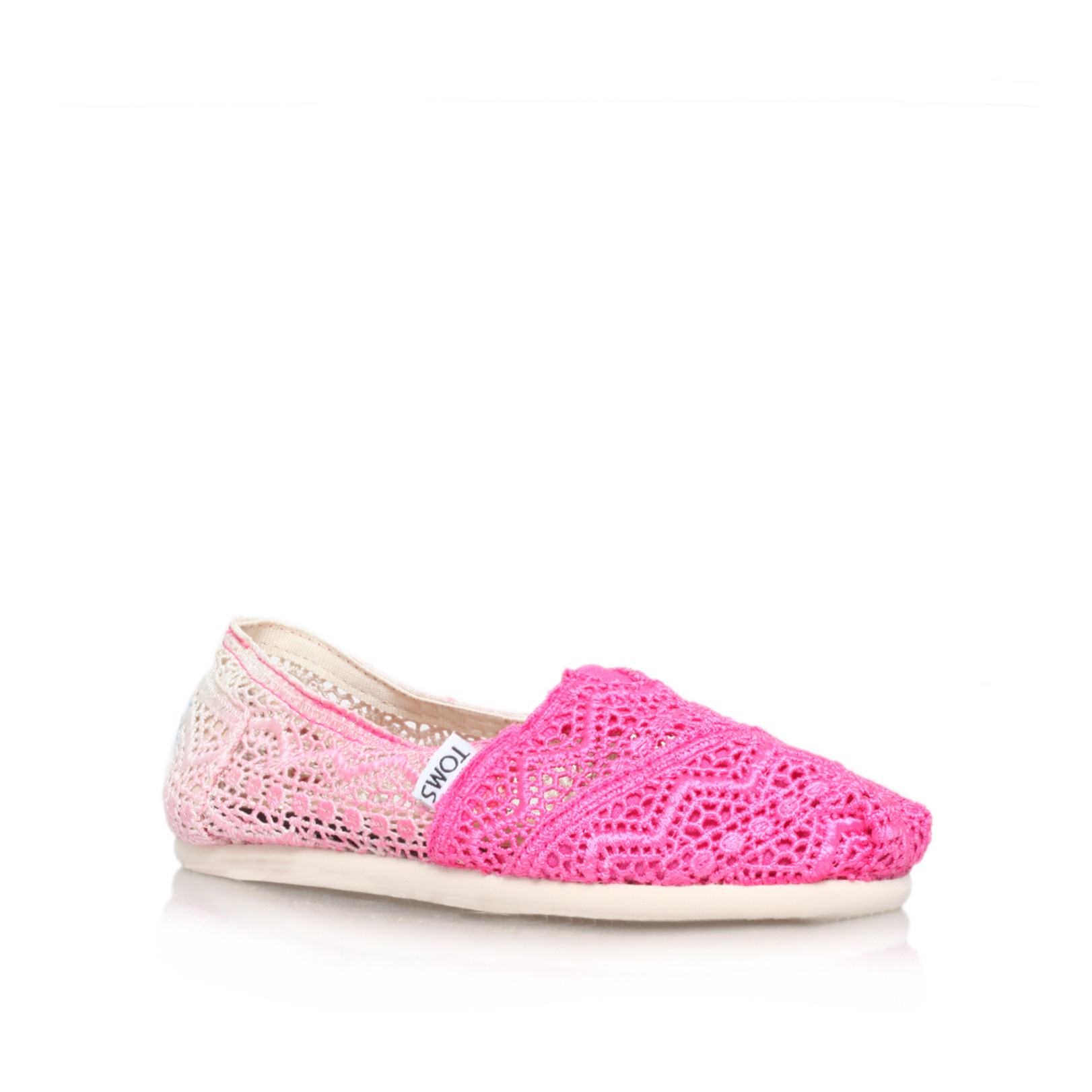 toms crochet classic in pink for lyst