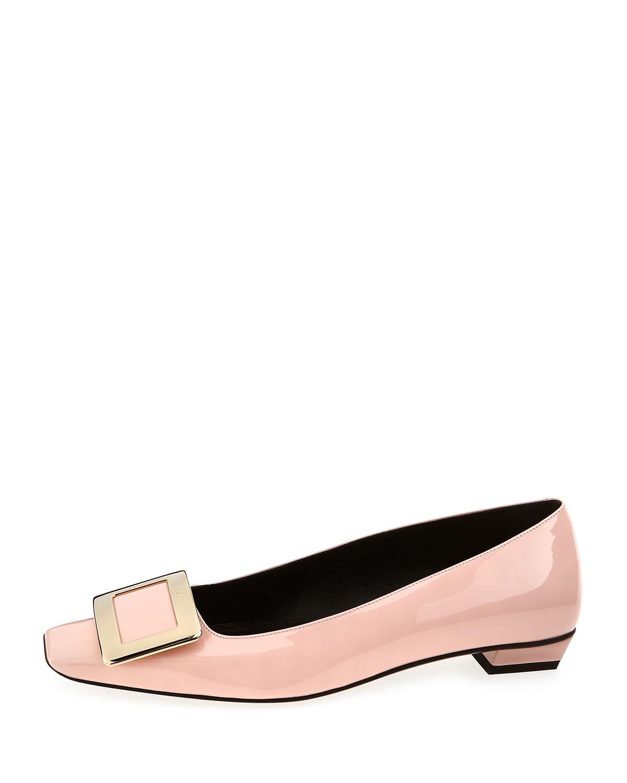 Roger vivier Belle Vivier Patent Ballet Flats in Pink