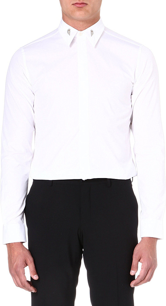 givenchy gold collarstay shirt for men in white for men