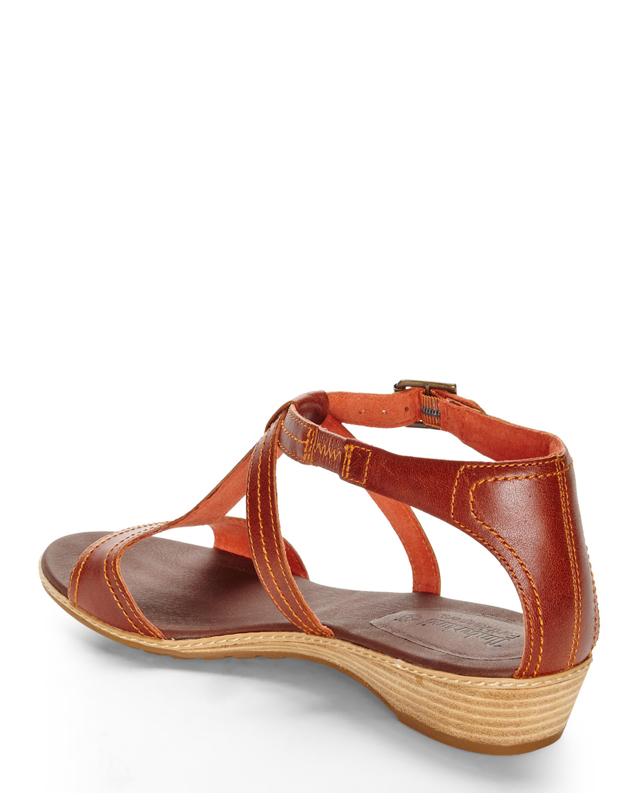 timberland earthkeepers wedge sandals in brown lyst