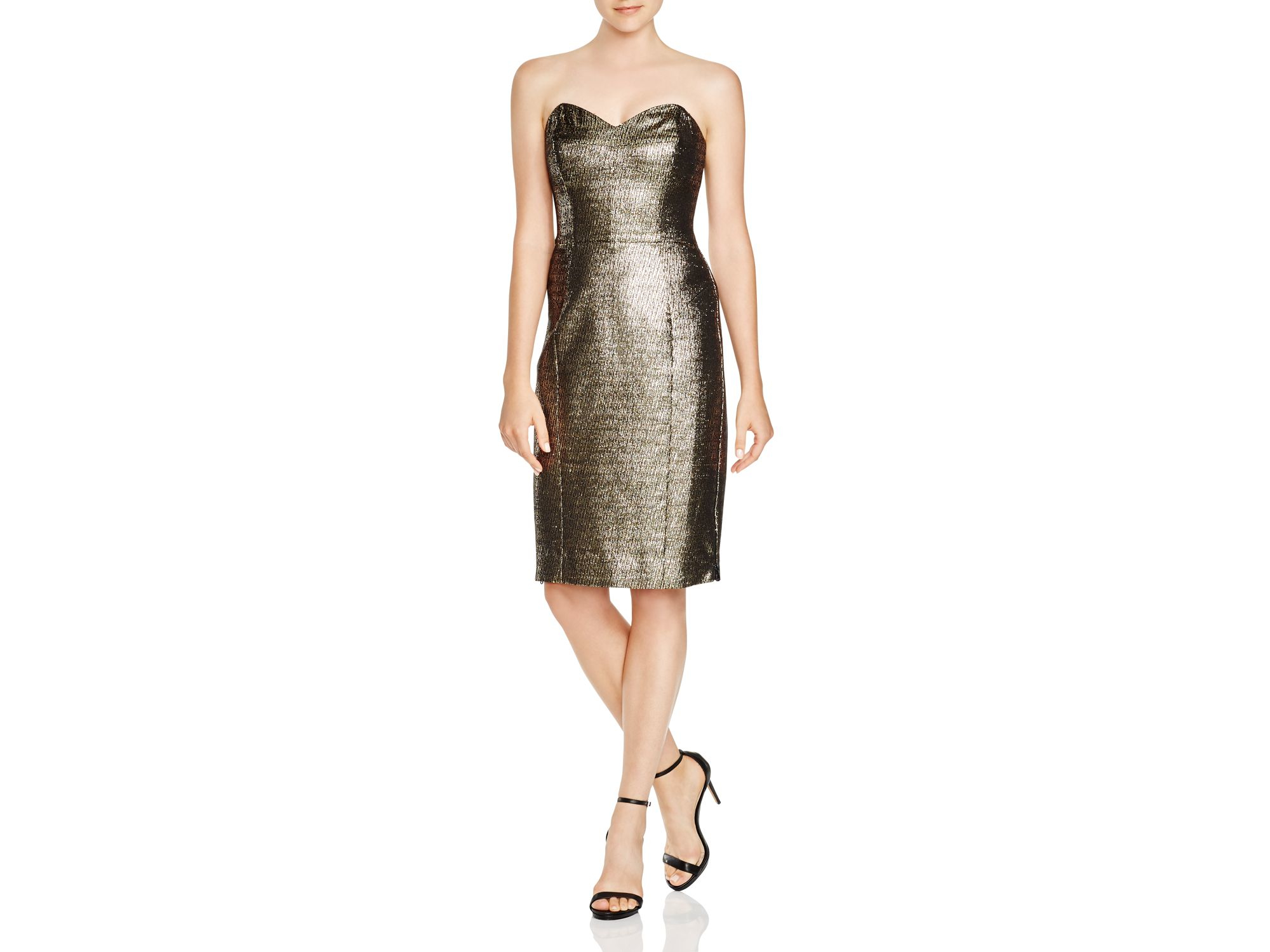 32cdd8fc40a8 Milly Couture Metallic Marta Strapless Dress in Metallic - Lyst