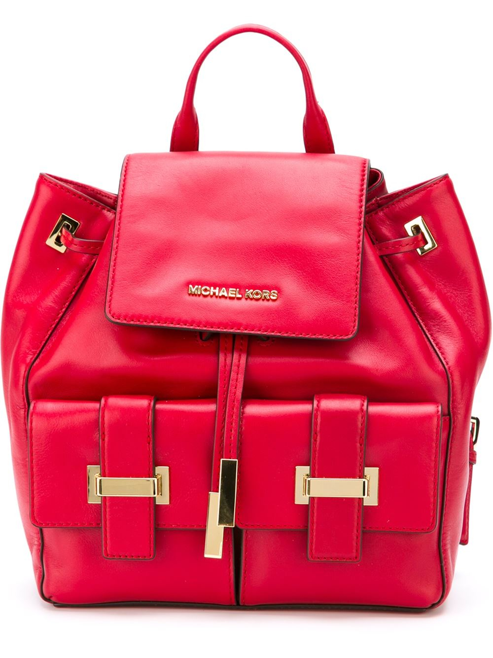 9c0c6343cdcc ... Bags Wallets Lyst - Michael Michael Kors marly Backpack in Red .