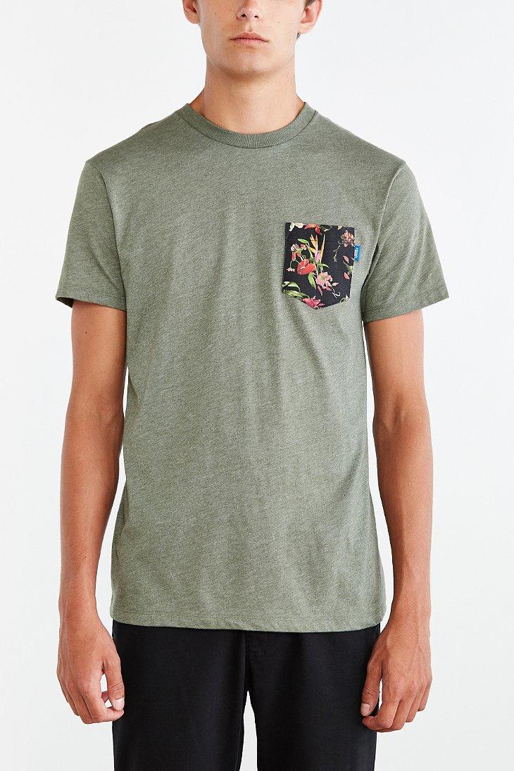 2ec736bbe213cd Lyst - Vans Death Bloom Pocket Tee in Green for Men