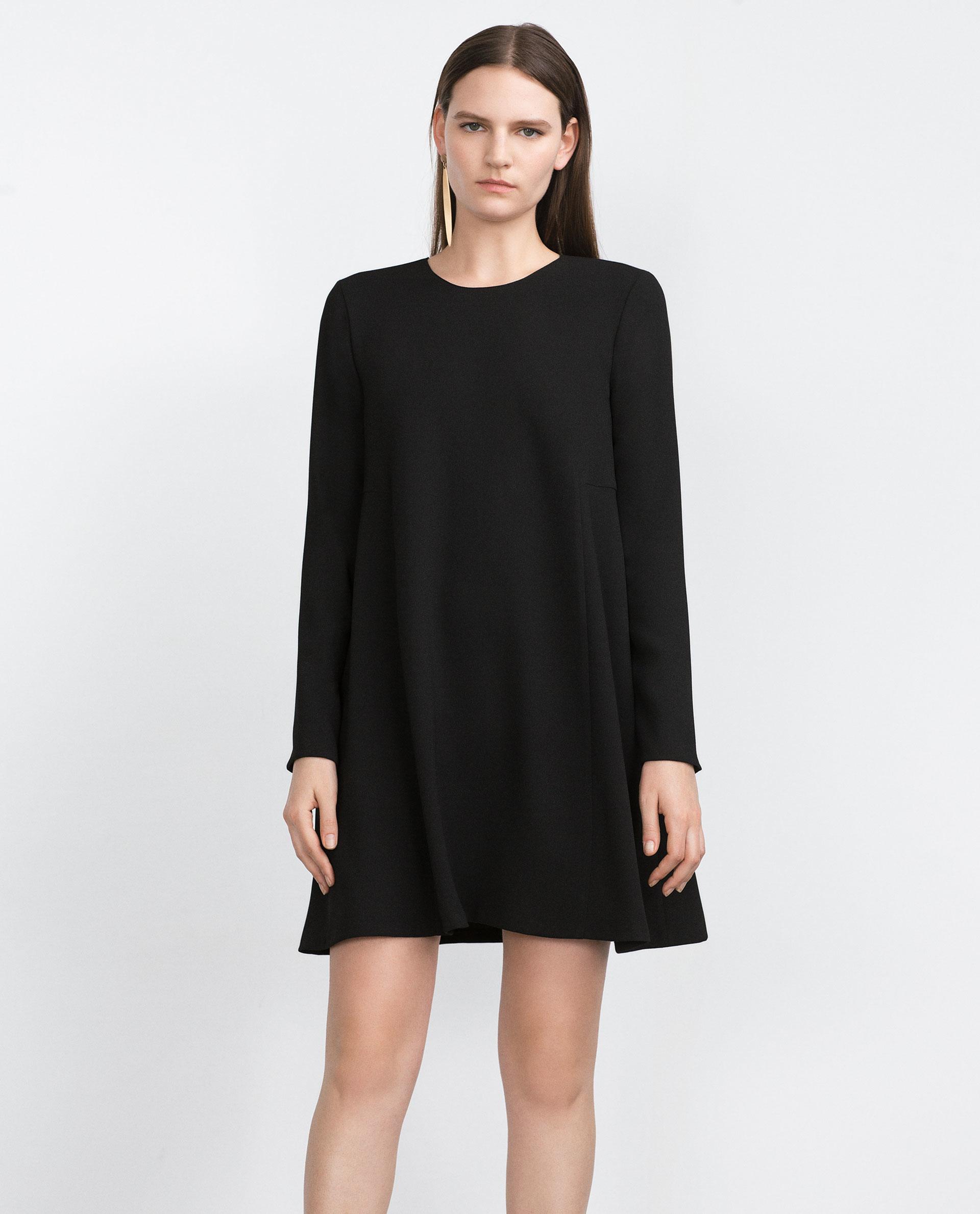 Zara Baby Doll Dress in Black