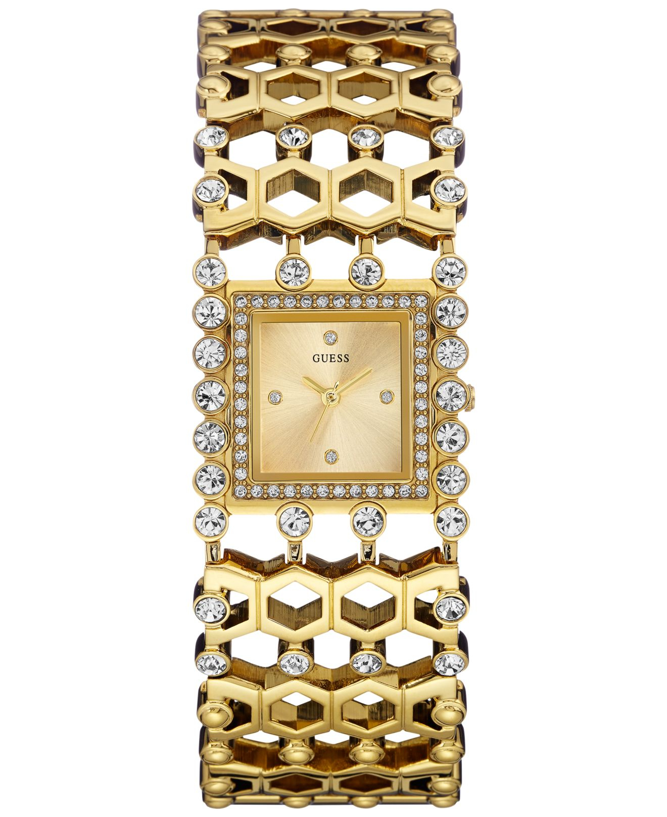 Women S Crystal Accent Gold Tone Bracelet Watch 37mm U0574l2