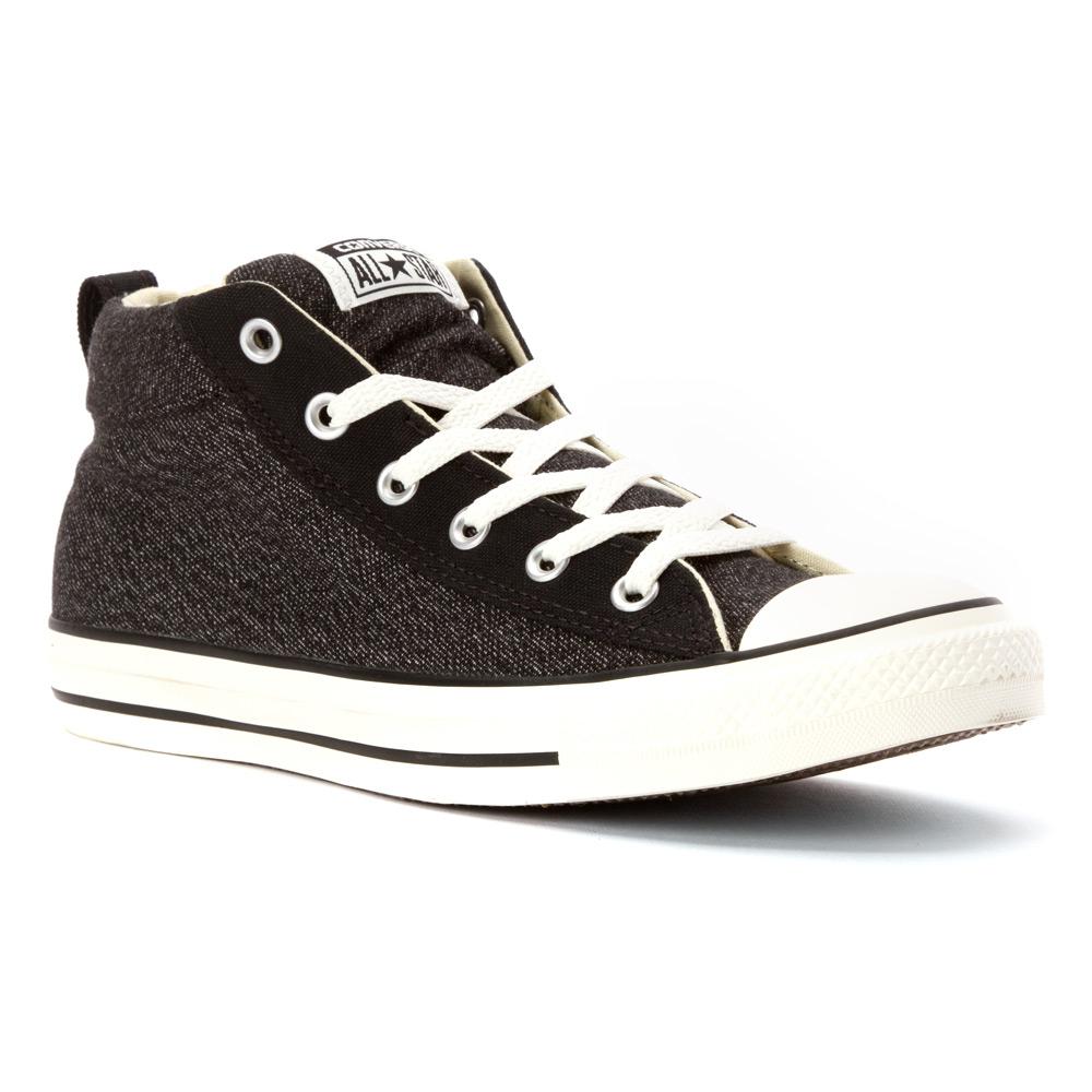 Converse Chuck Taylor Street Mid Sneaker In Black For Men