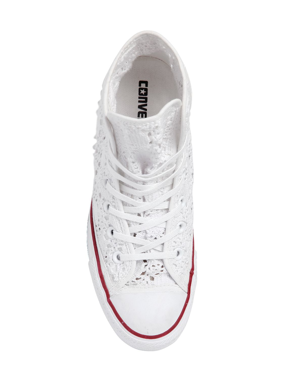 Converse Chuck Taylor Crocheted Cotton Sneakers in White