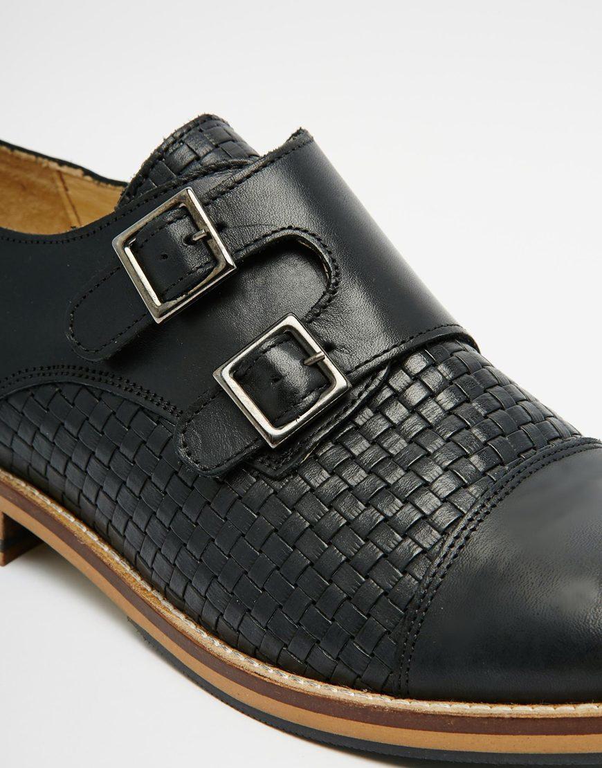 shoe the bear hoe the bear monk shoes in black for men lyst. Black Bedroom Furniture Sets. Home Design Ideas