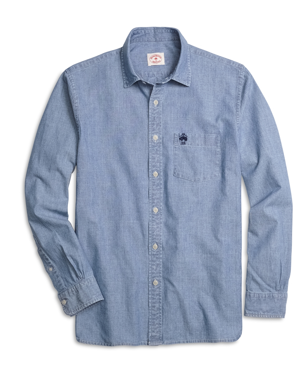 brooks brothers indigo sport shirt in blue for men lyst