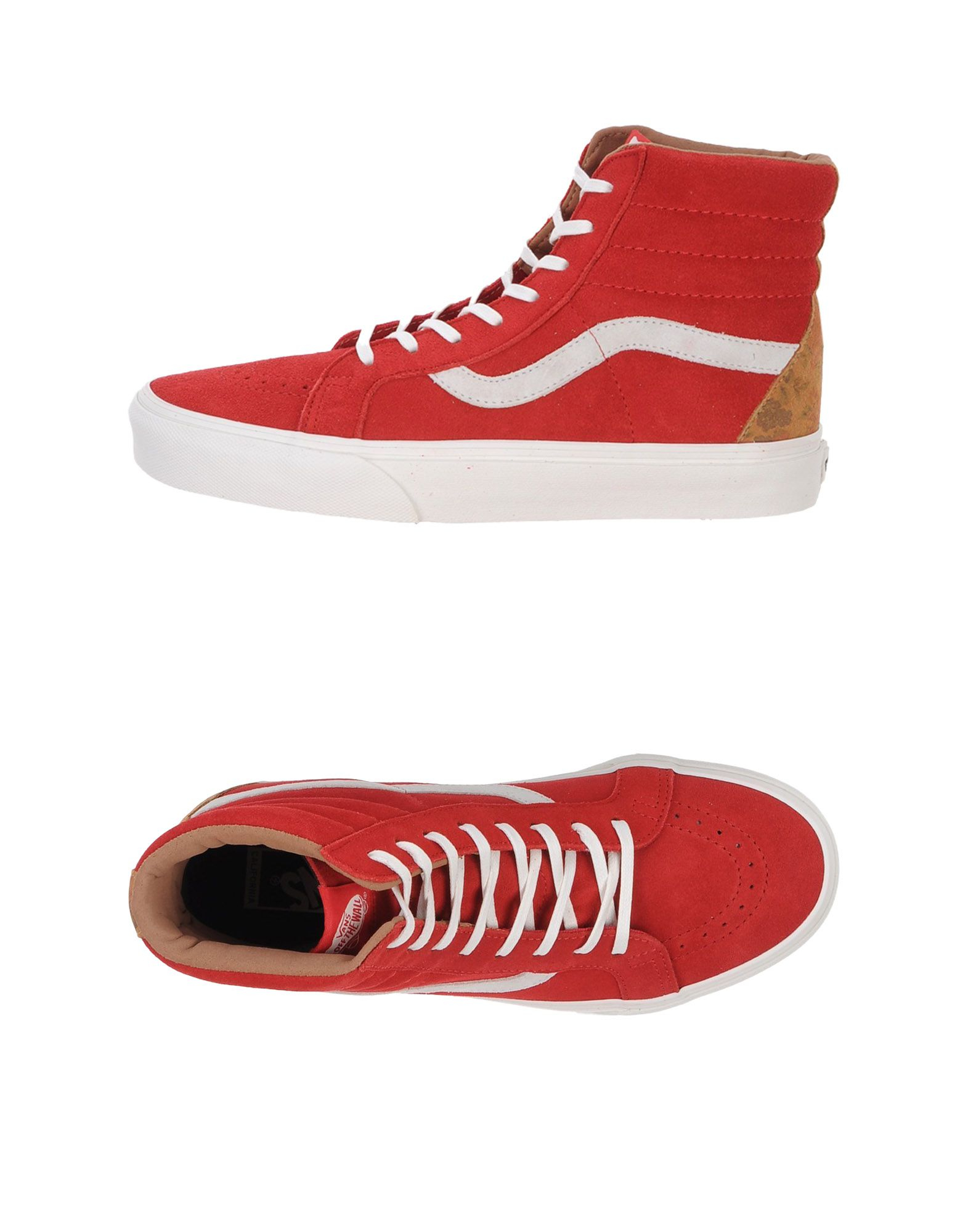Vans High-tops & Sneakers in Red for Men | Lyst