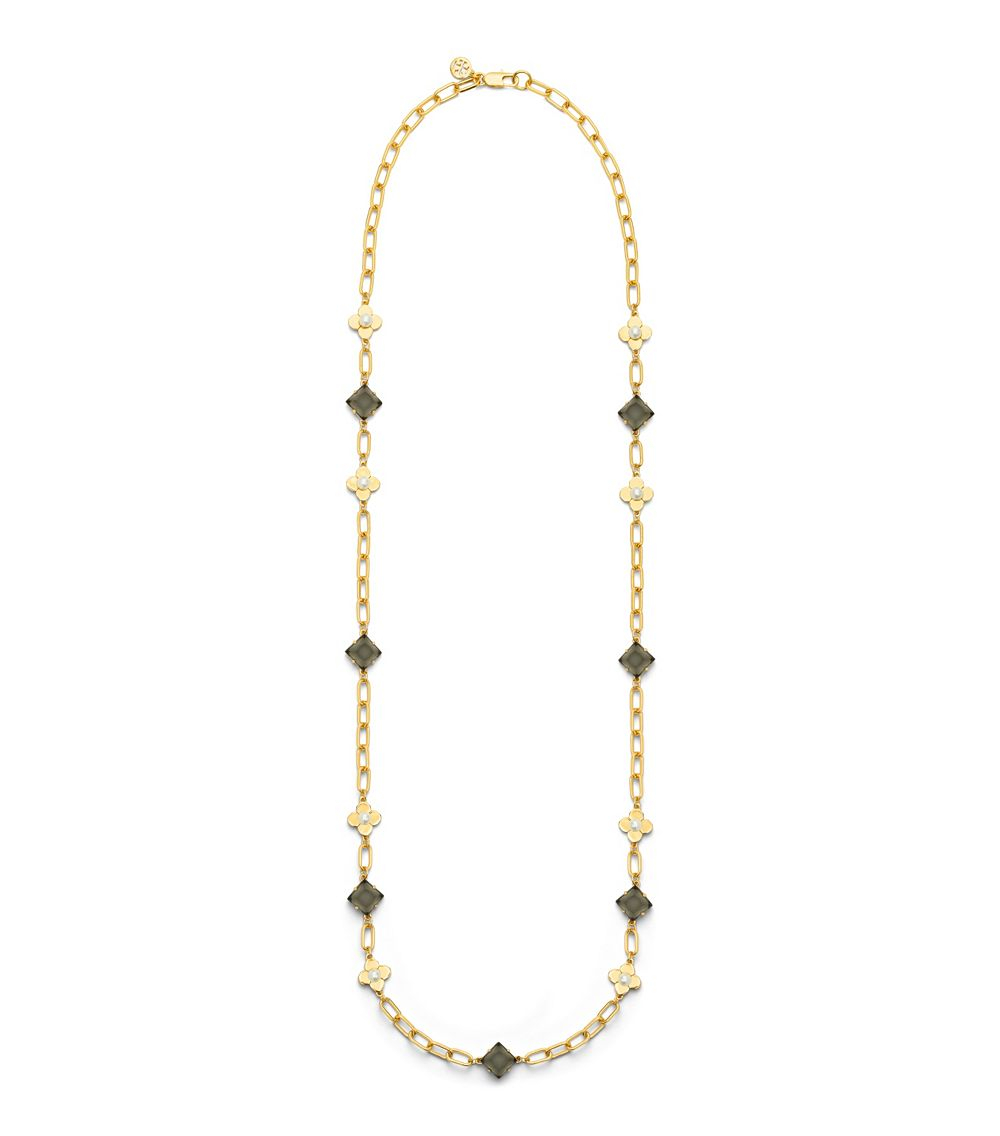 Tory Burch Babylon Rosary Necklace In Metallic Lyst