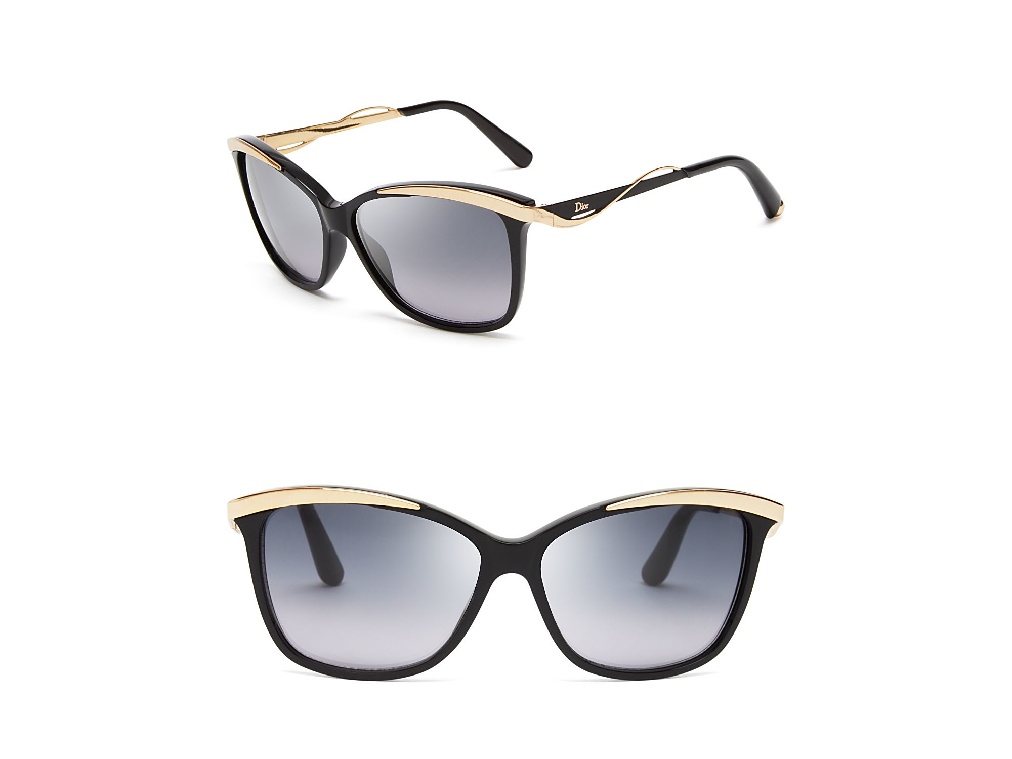 dior metaleyes 2 cat eye sunglasses in black lyst