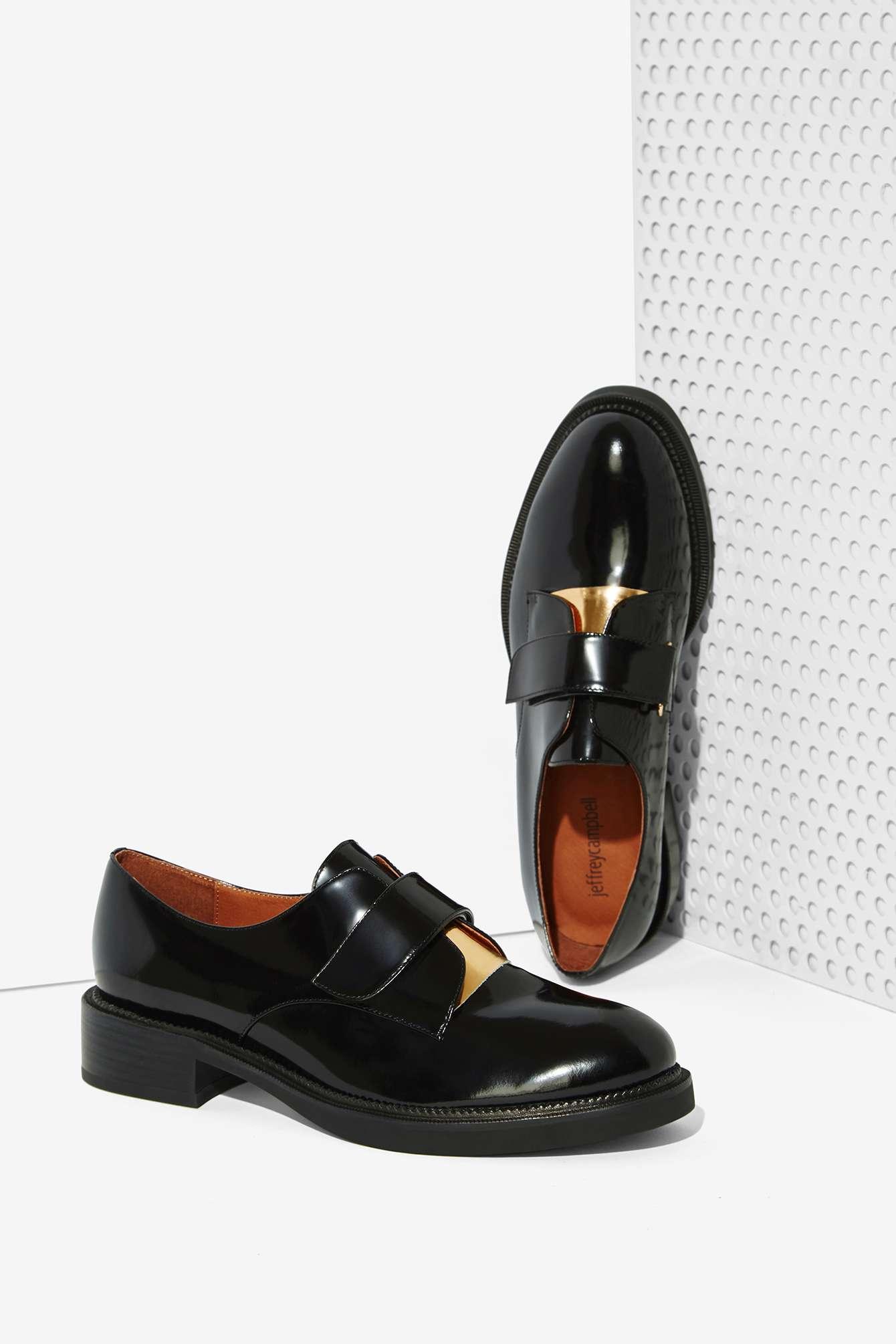 Jeffrey Campbell Calvert Leather Oxford In Black For Men ...