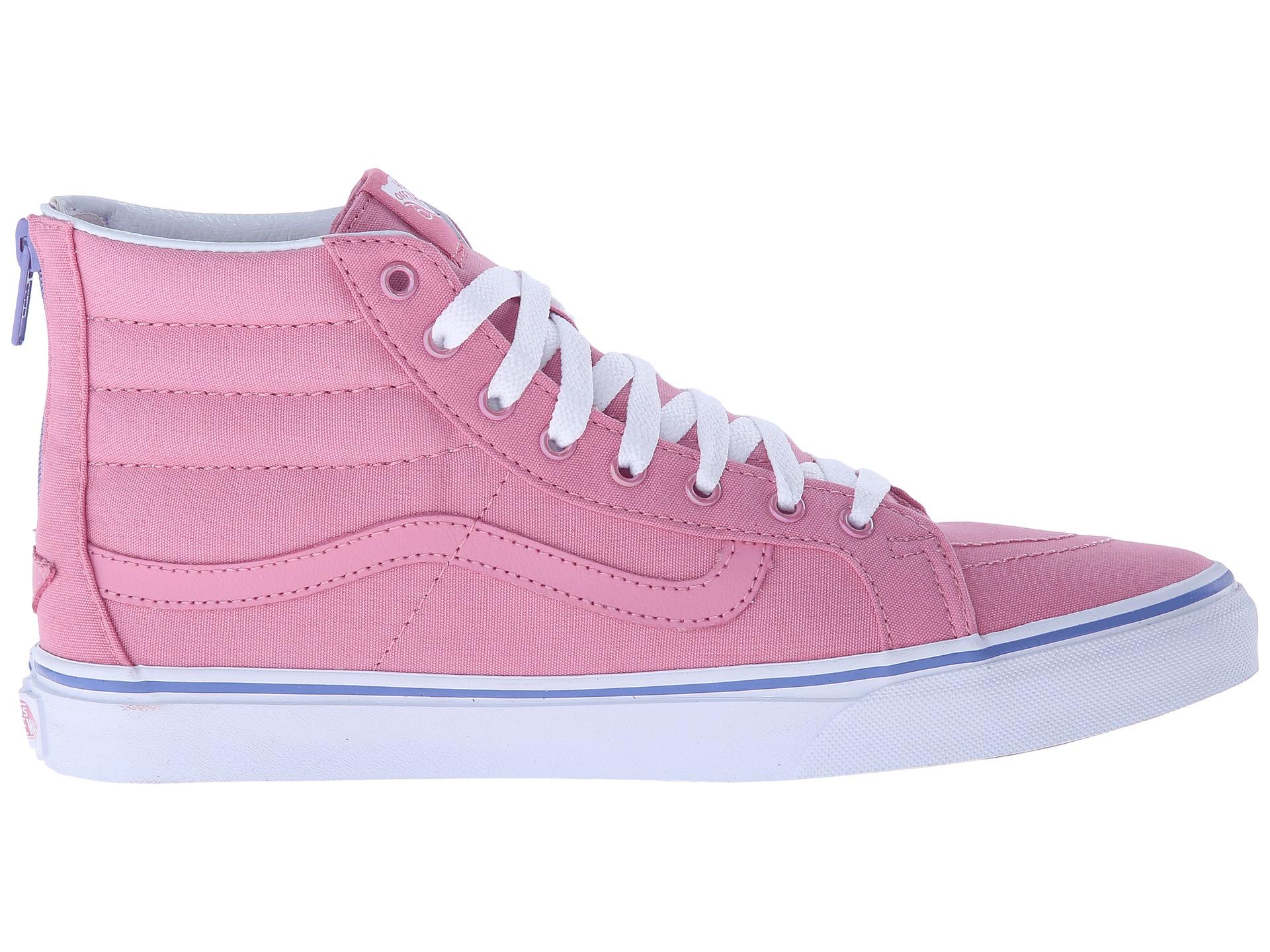 2ead72e3974f1a Lyst - Vans Sk8-hi Slim Zip in Pink