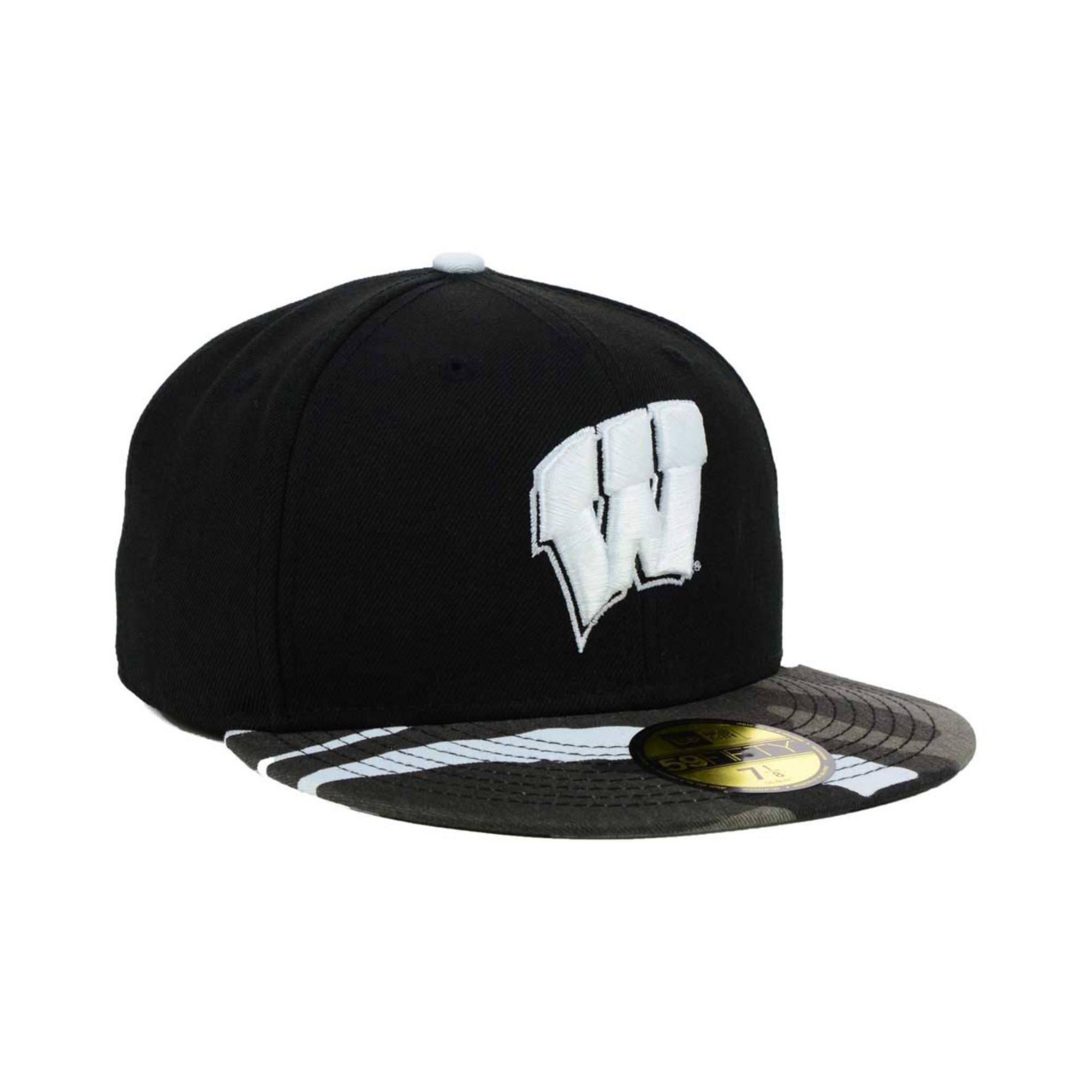 on sale a9870 00cd0 ... new zealand lyst ktz wisconsin badgers urban camo 59fifty cap in black  for men a3f92 9a1c3 ...