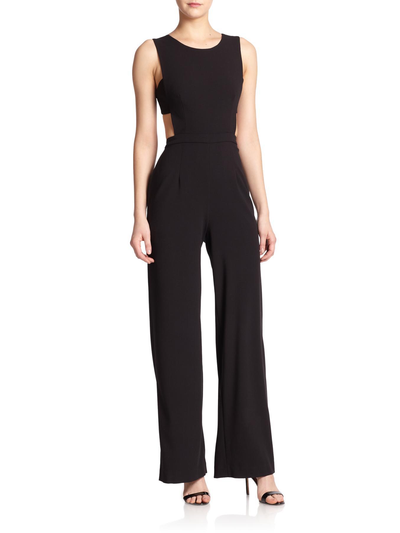 941ee699228 Lyst - BCBGMAXAZRIA Rosanna Cutout Jumpsuit in Black